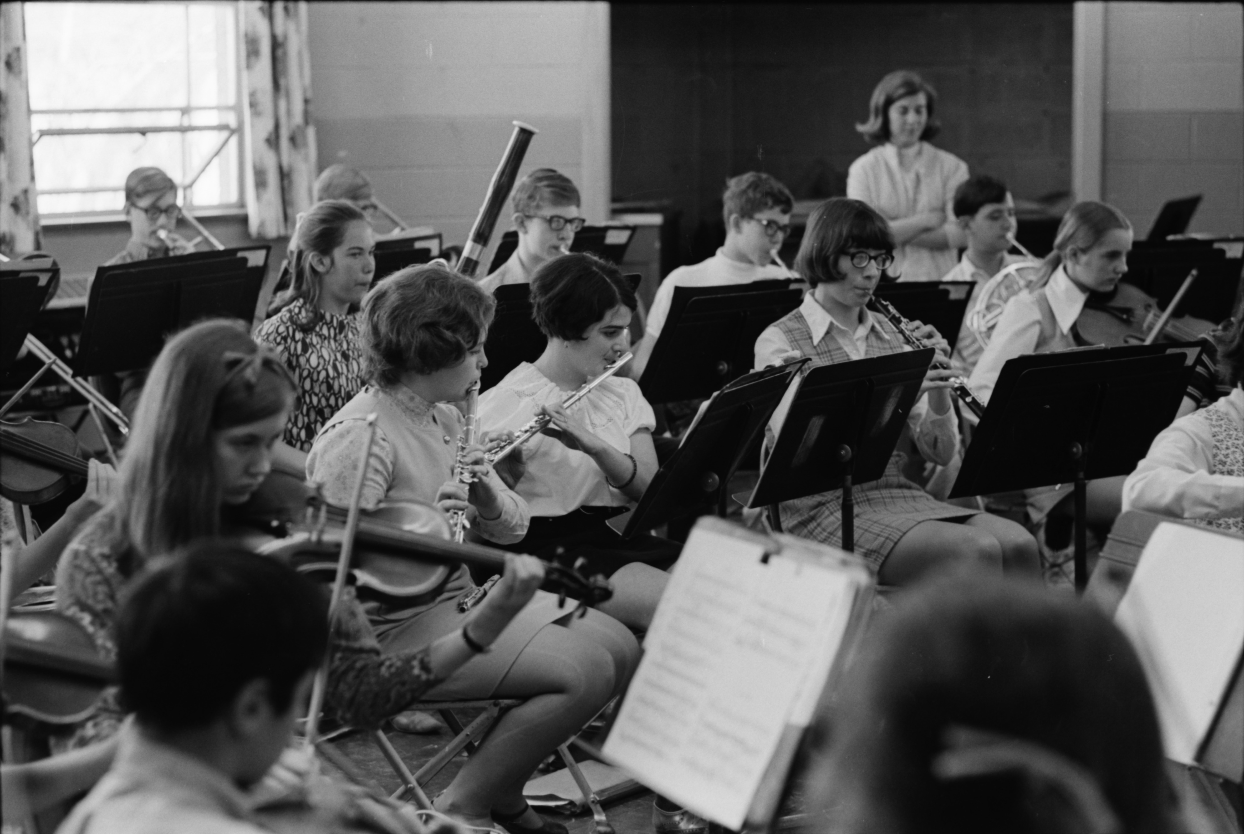Rehearsal for Ann Arbor Public Schools' annual Spring Music Festival, April 1969 image