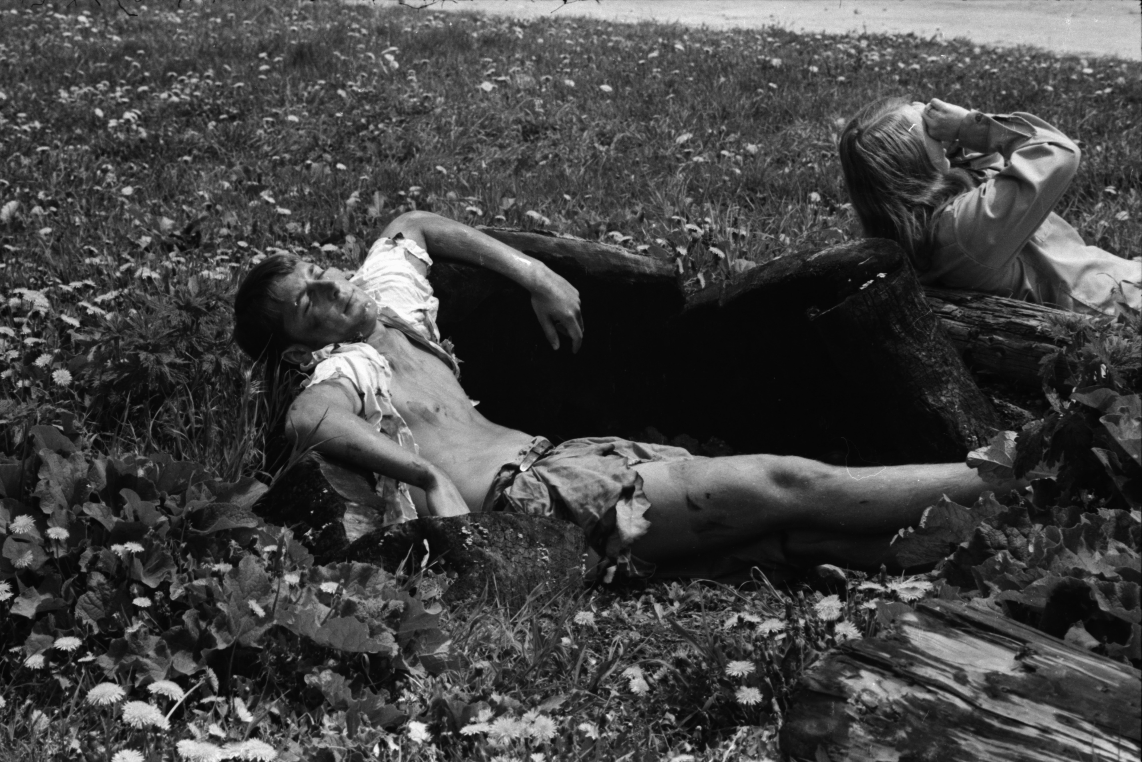 High School Student Acts as Injured Victim in Tornado Exercise, May 1969 image