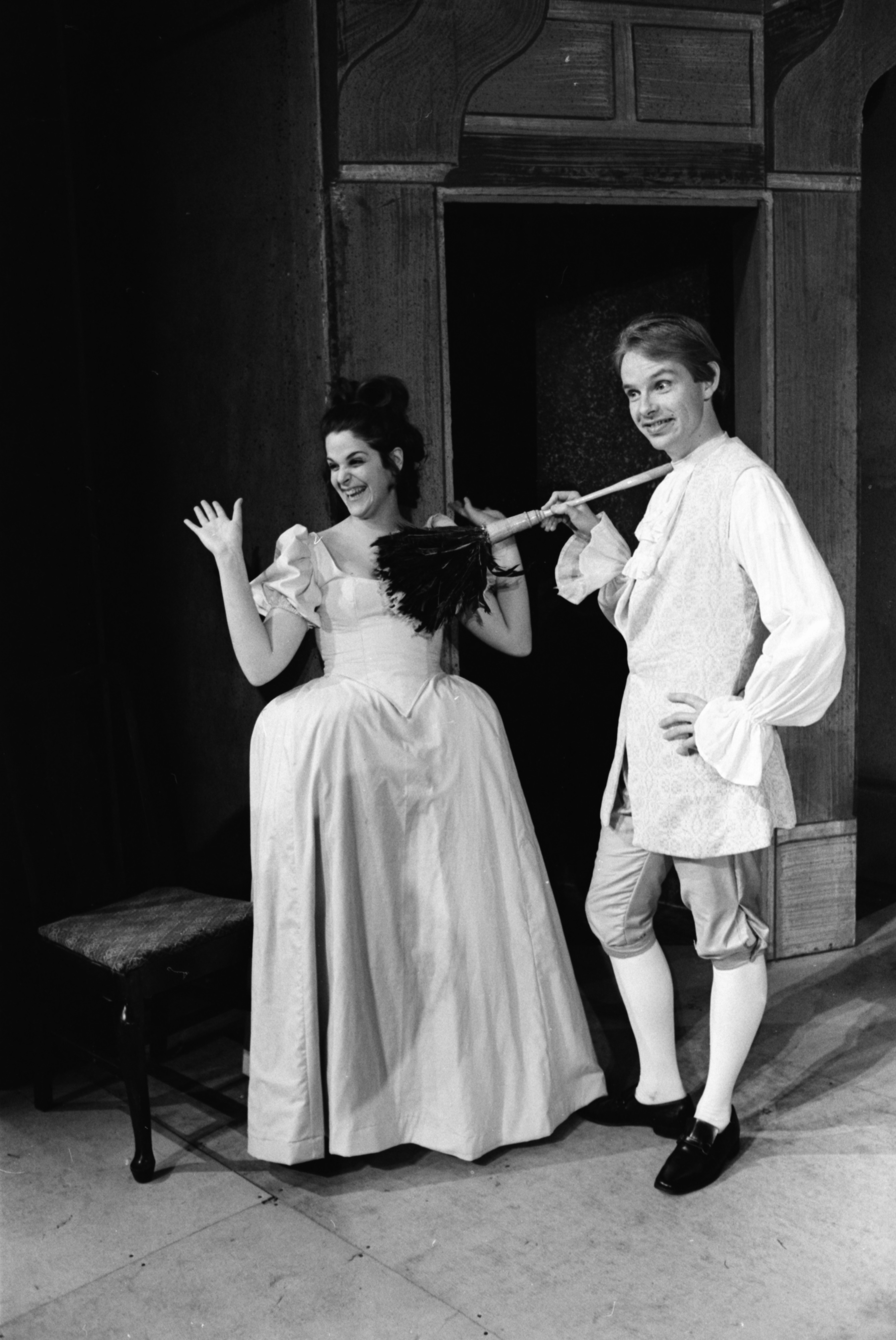 Gilda Radner and James Berton Harris in Ann Arbor Civic Theatre Production of 'She Stoops to Conquer,' May 1969 image