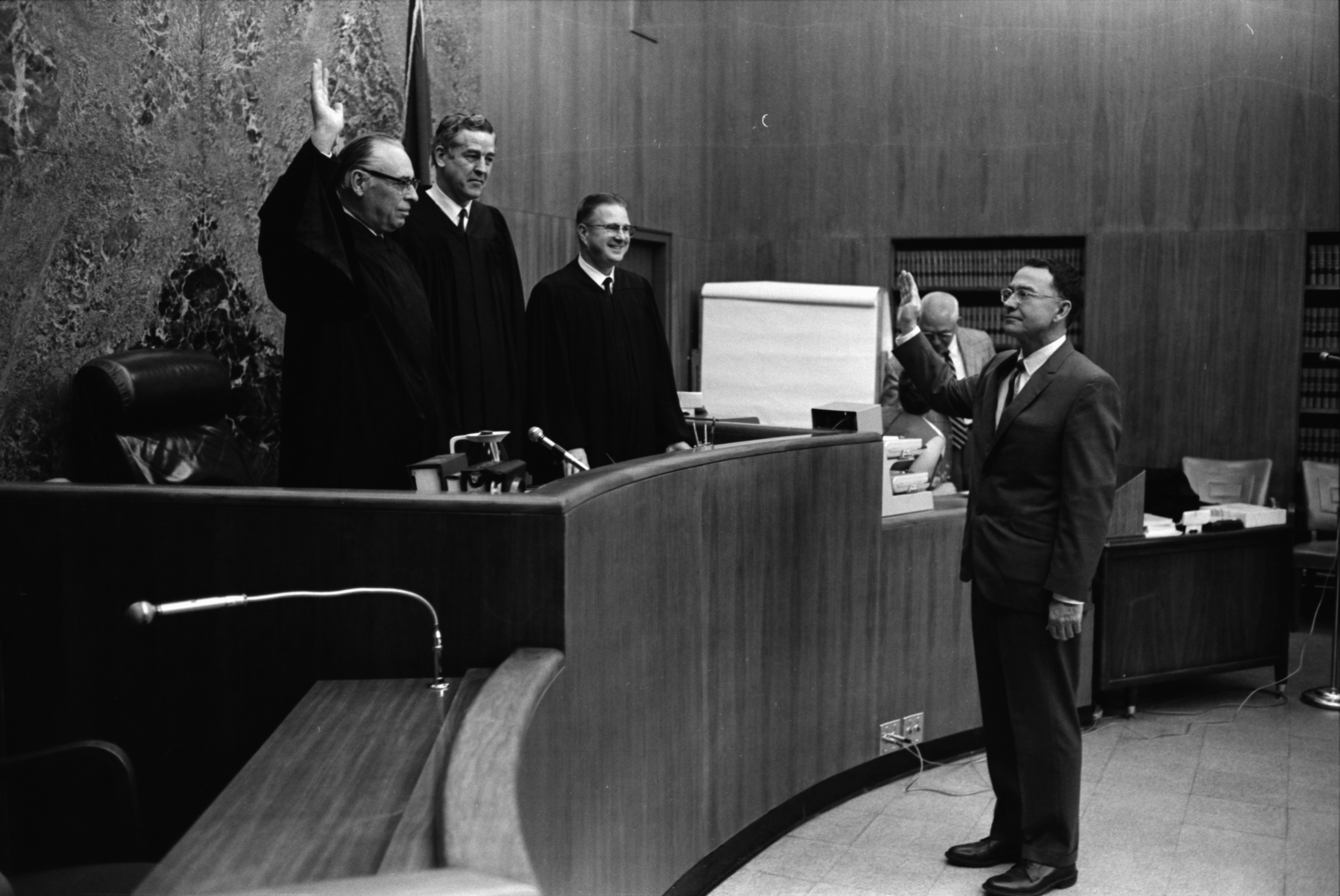 Probate Judge Takes Oath, June 1969 image