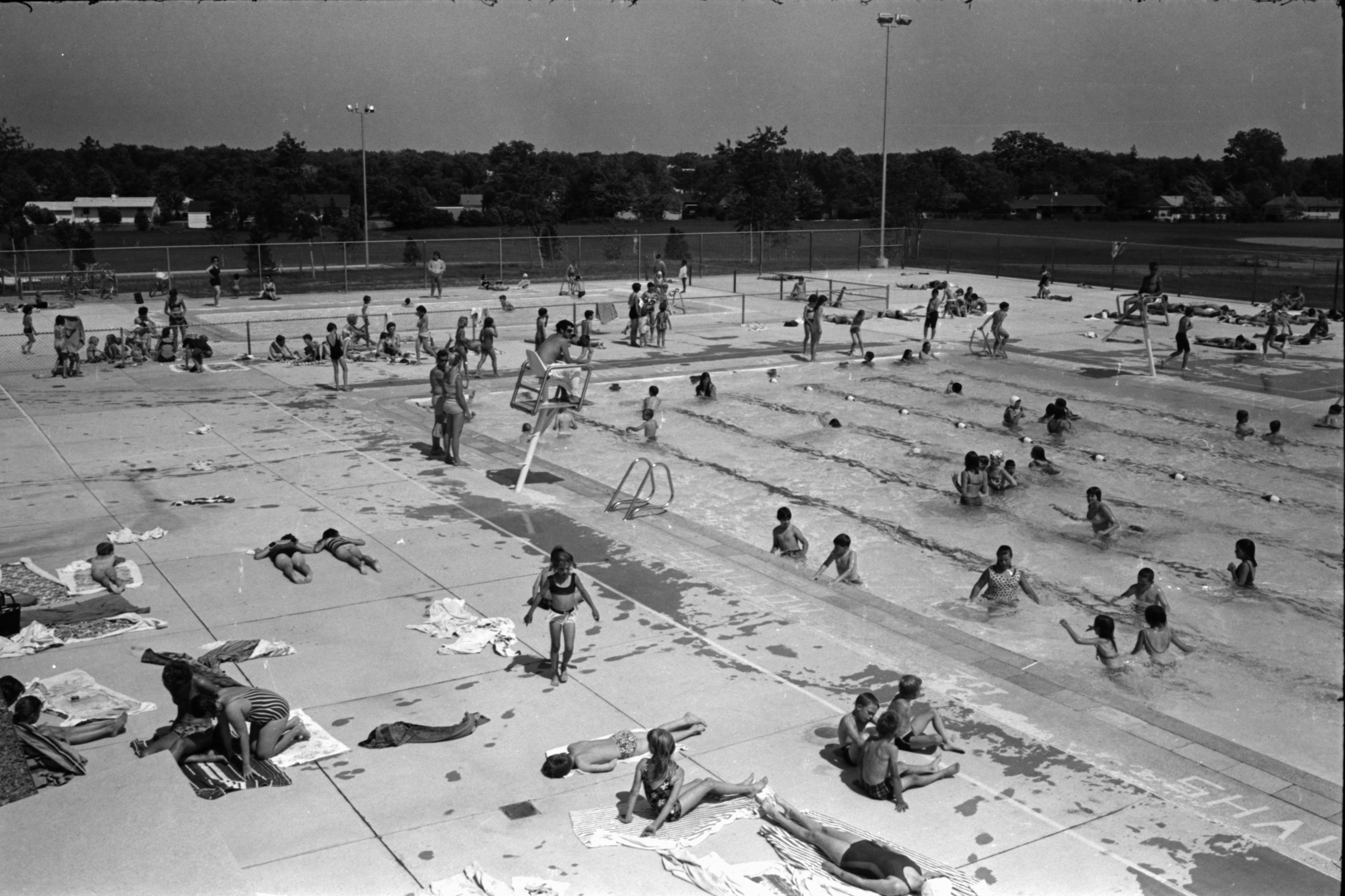 Buhr Pool in the Summer,  June 1969 image