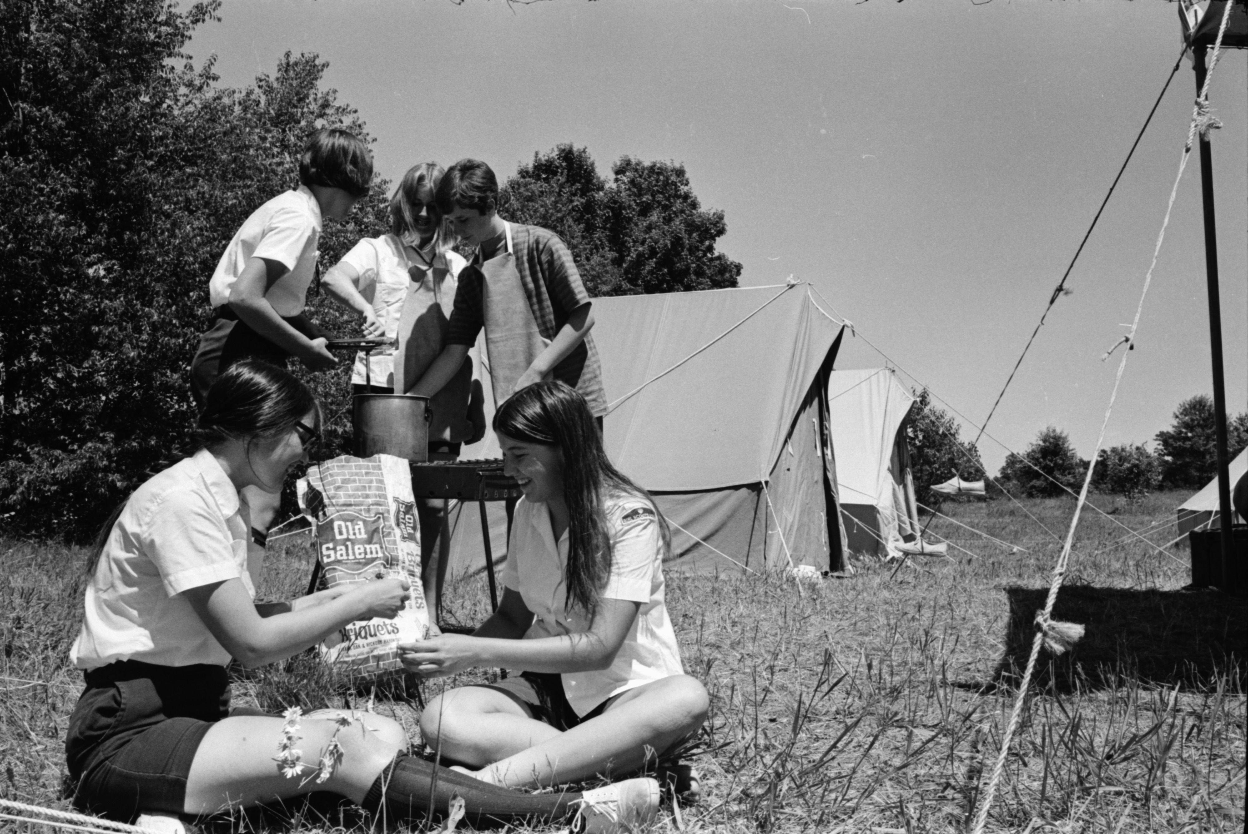 Girl Scouts at Camp, June 1969 image