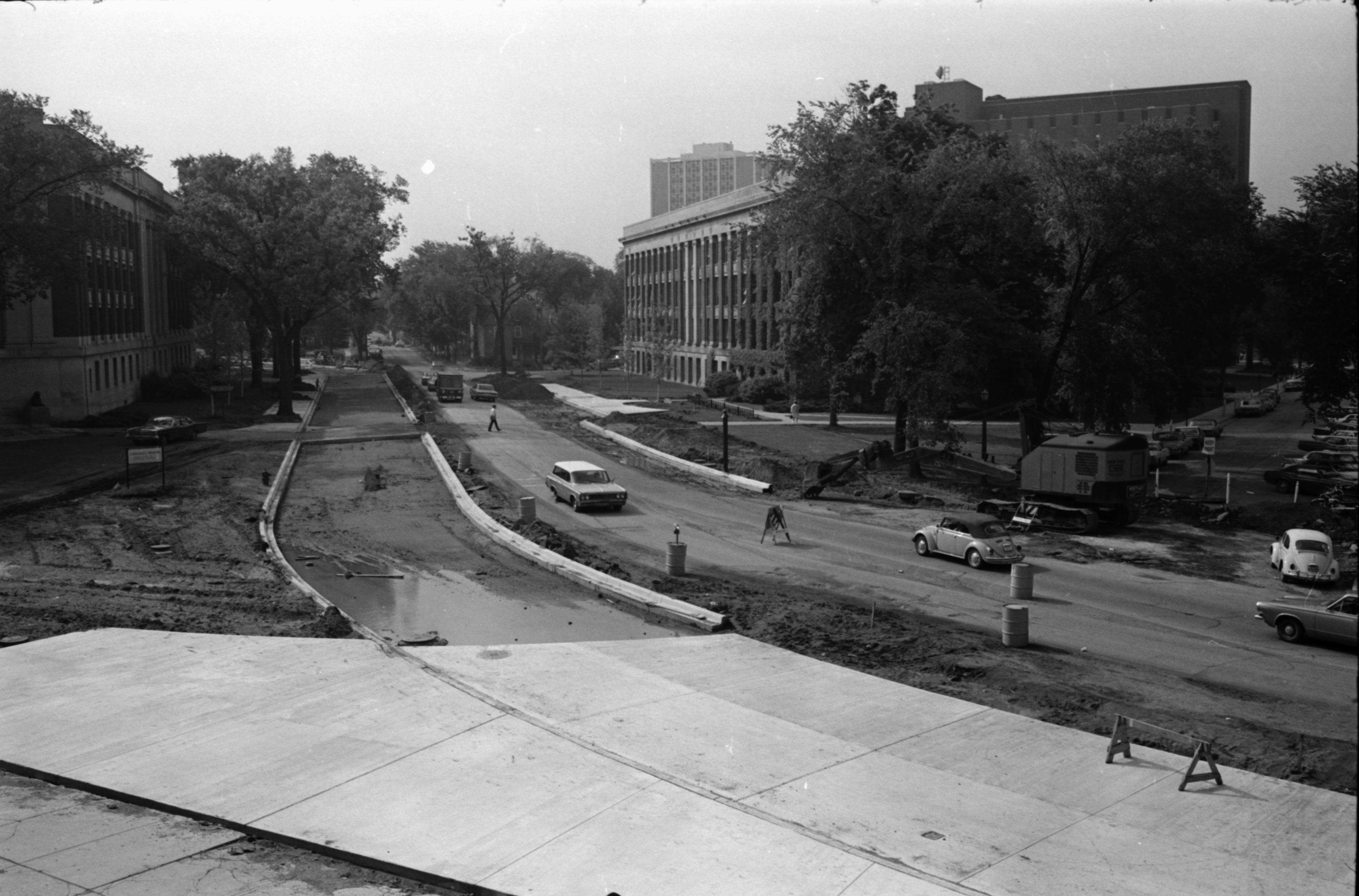 North University Avenue Is Widened, June 1969 image