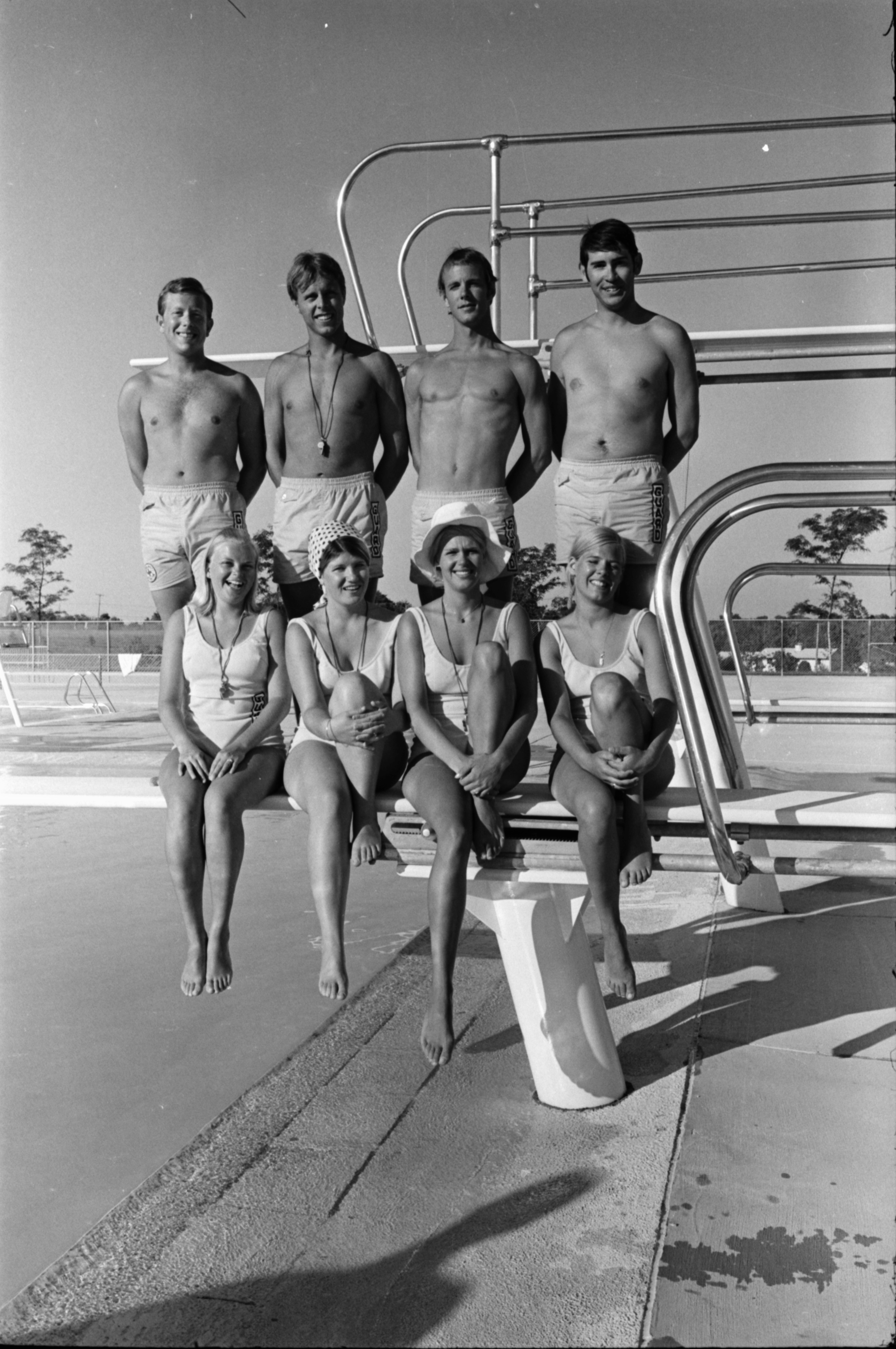Swimmers at Buhr Pool, June 1969 image