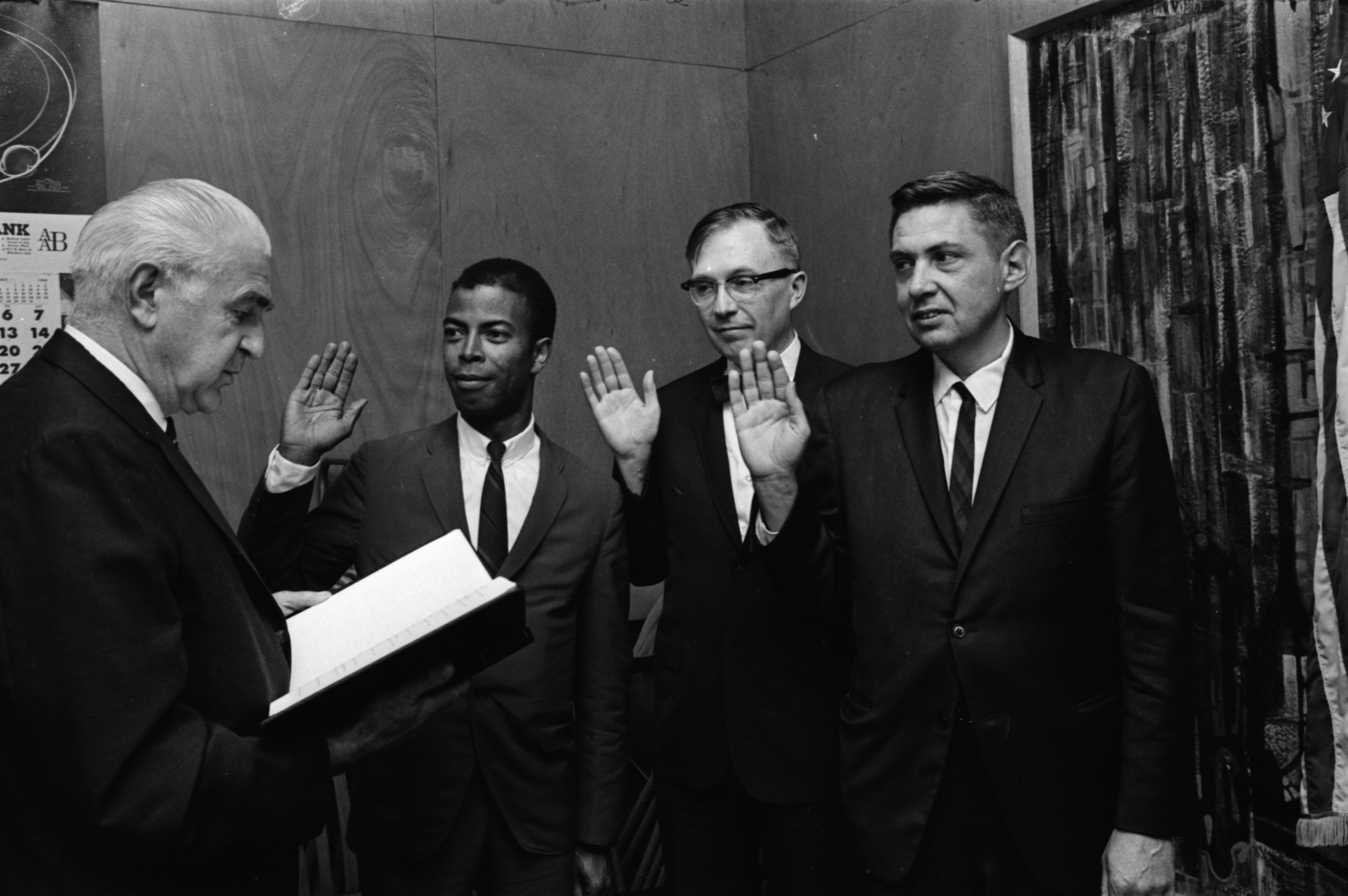 Image from New Trustees Take Oath Of Office, July 1969