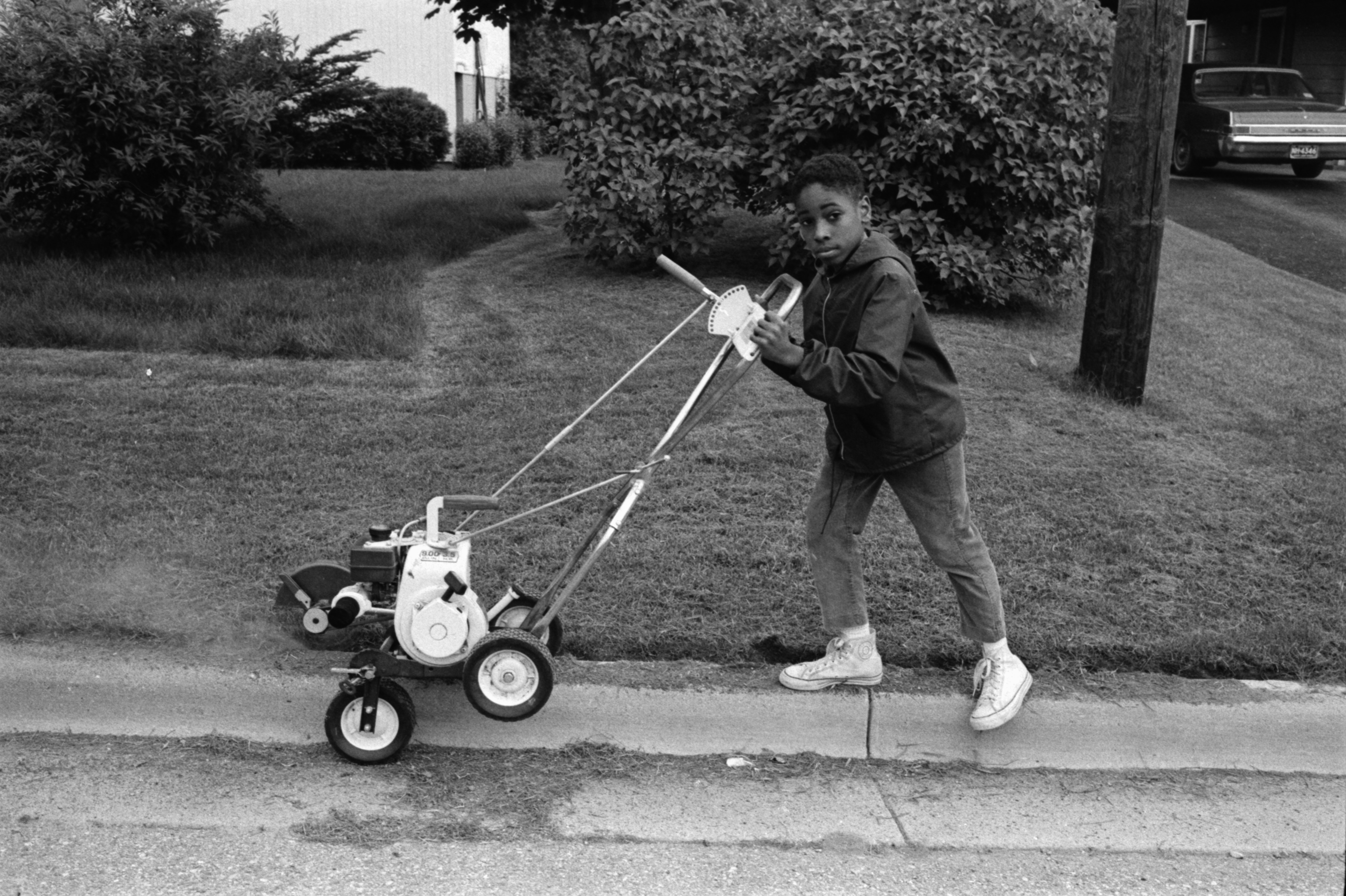Dorian L. Deaver Mowing Grass, June 1969 image