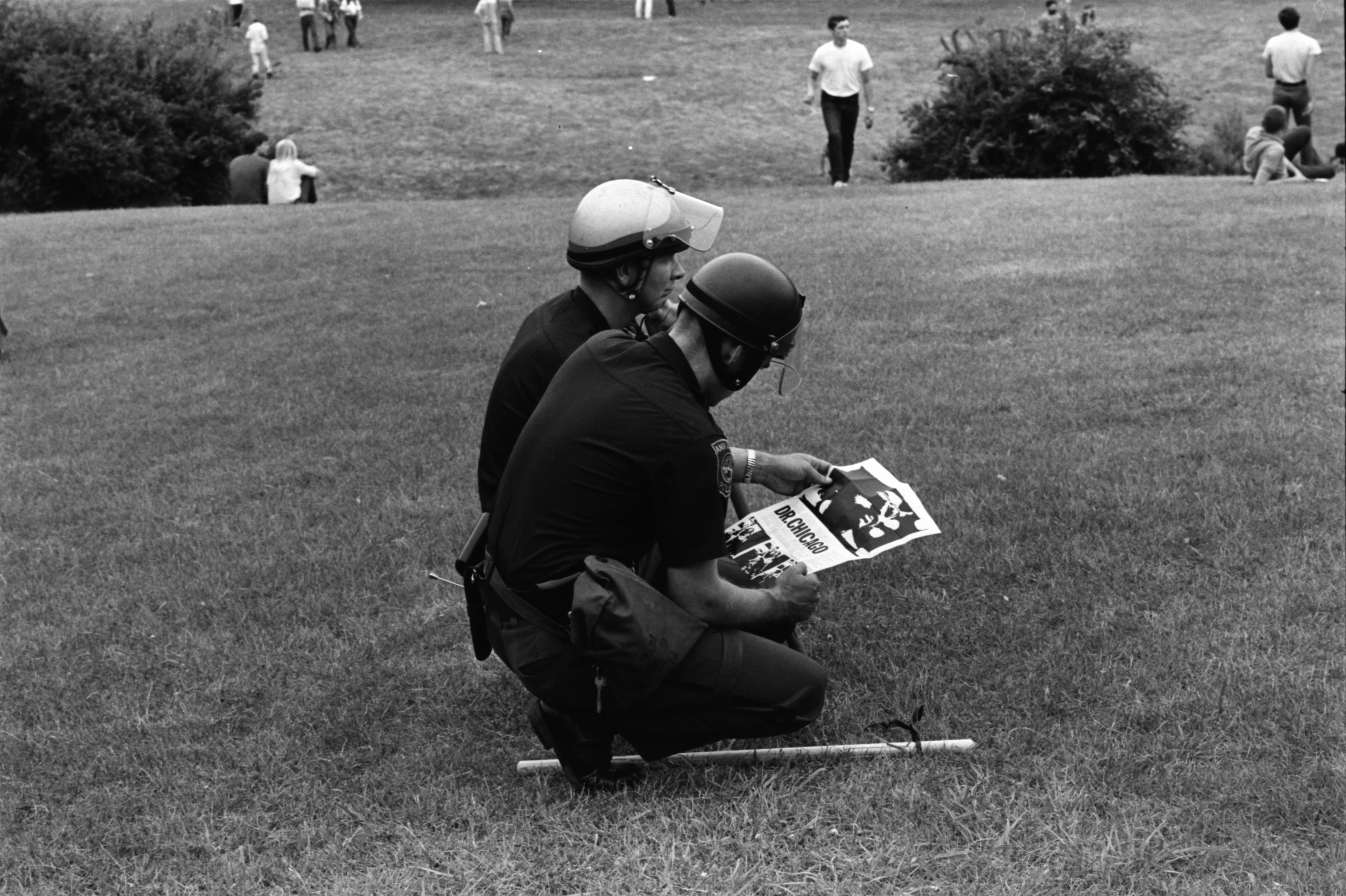 Police at Peace Picnic in the Arboretum, July 1969 image