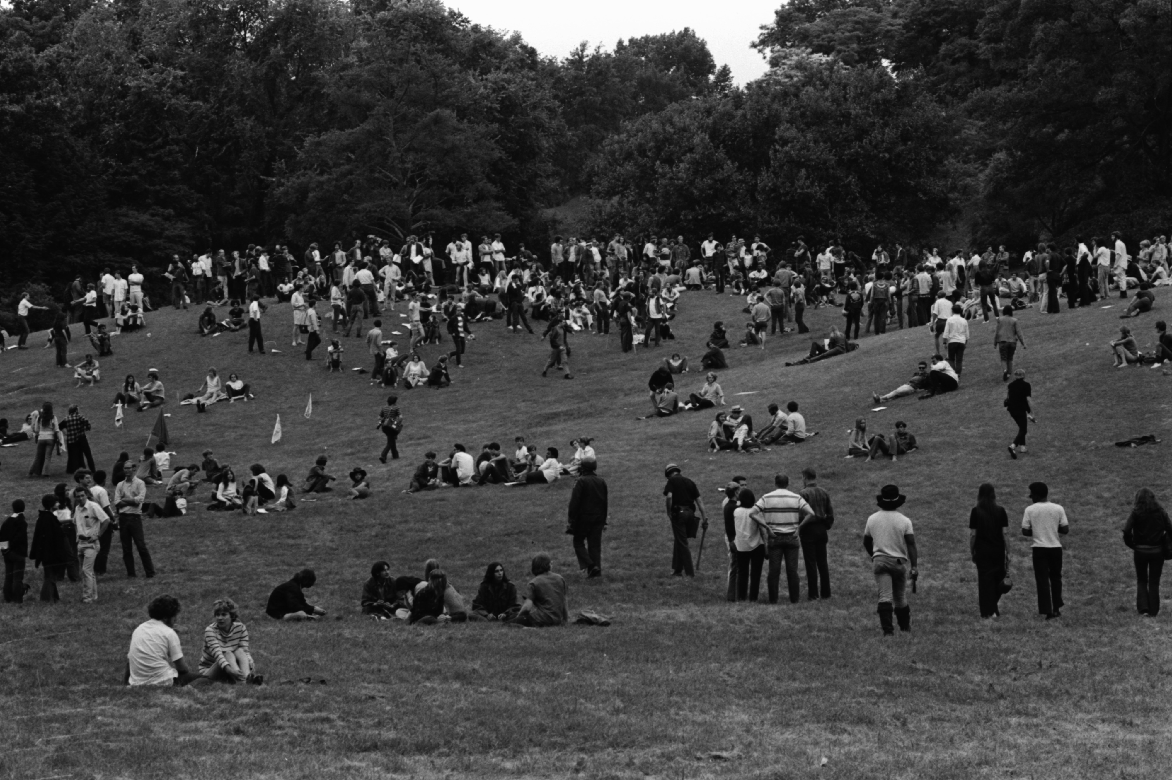 Peace Picnic at the Arboretum, July 1969 image