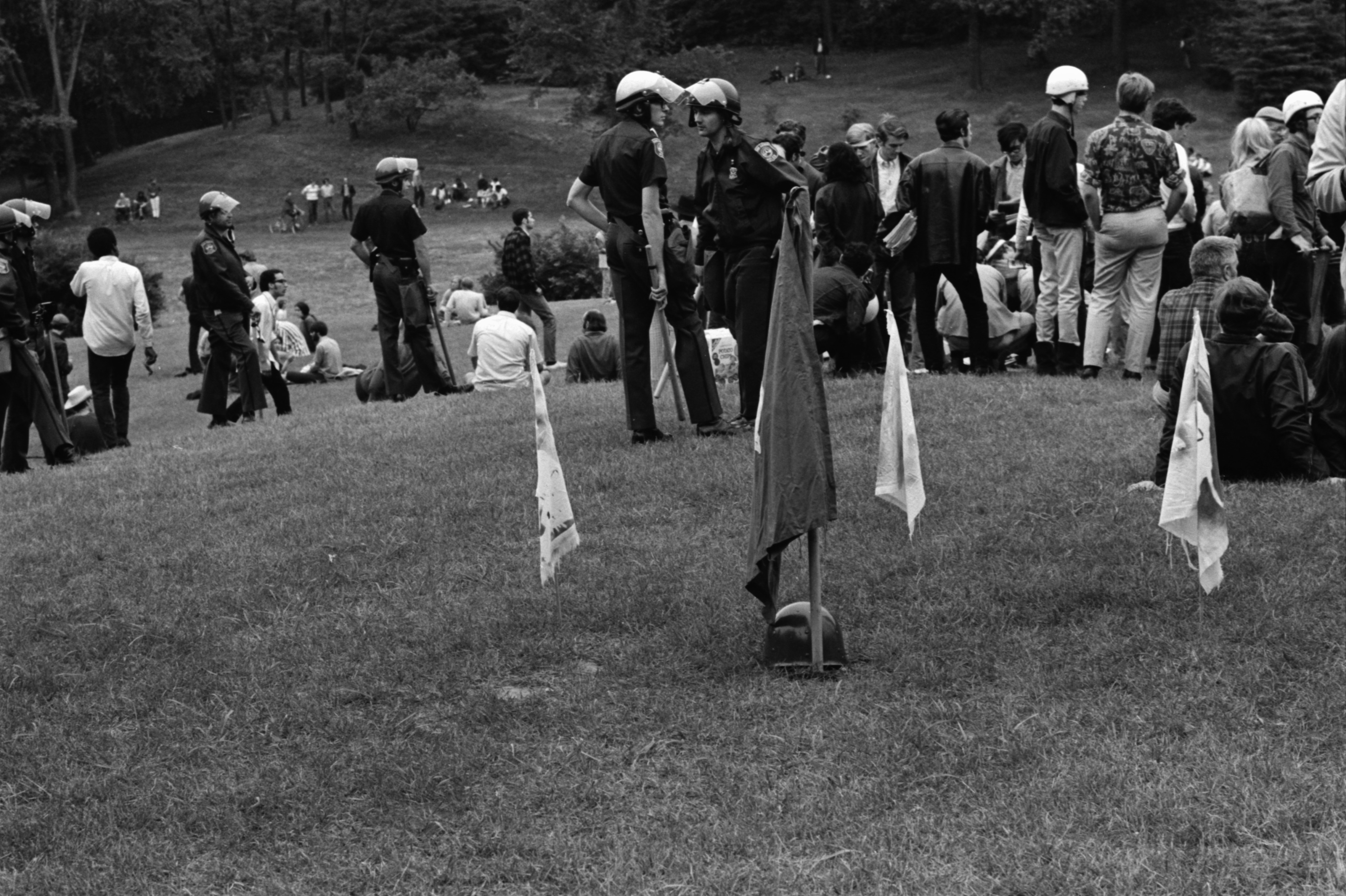 Police Patrol the Peace Picnic at the Arboretum, July 1969 image