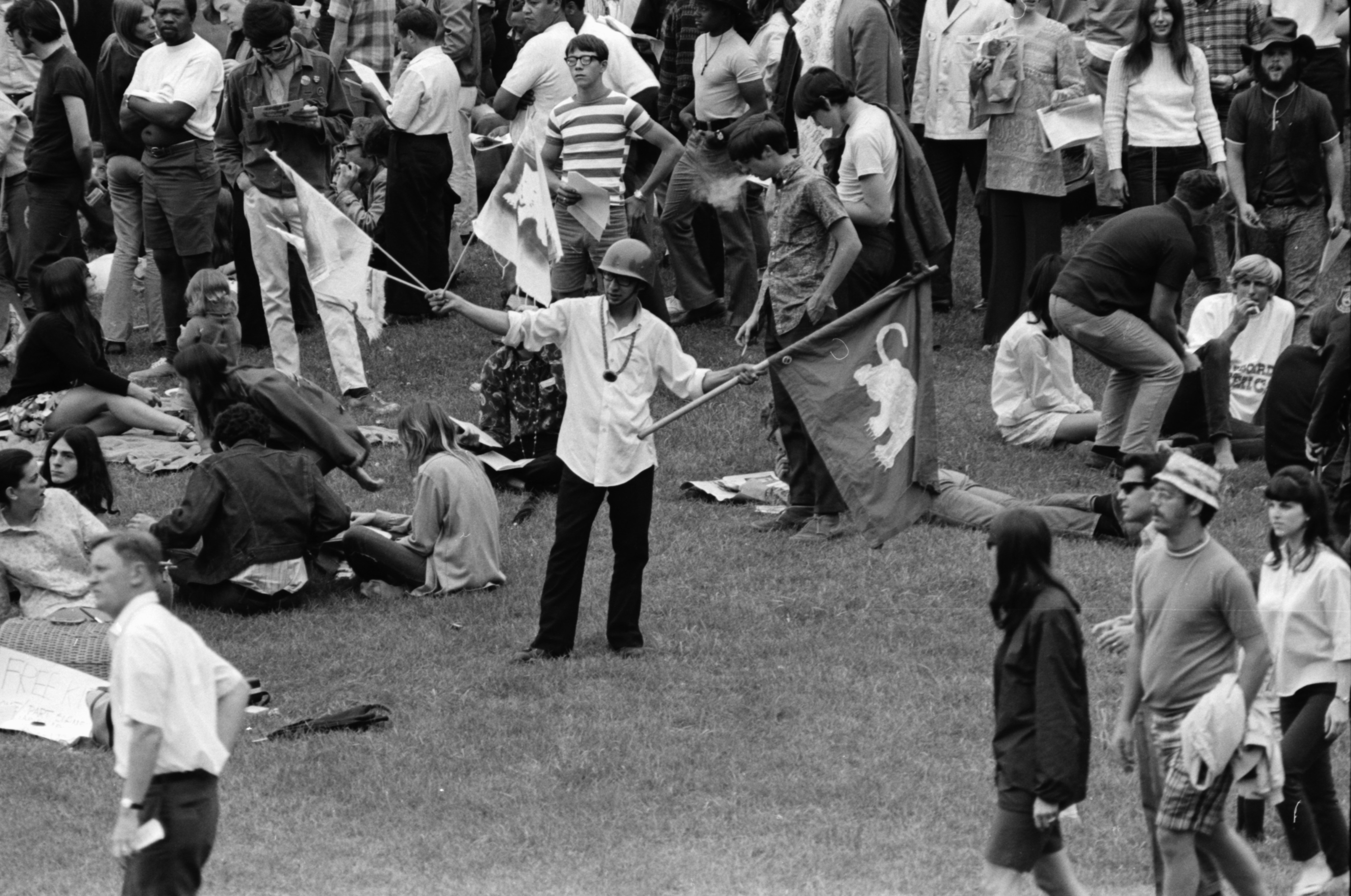 White Panthers join the Peace Picnic at the Arboretum, July 1969 image