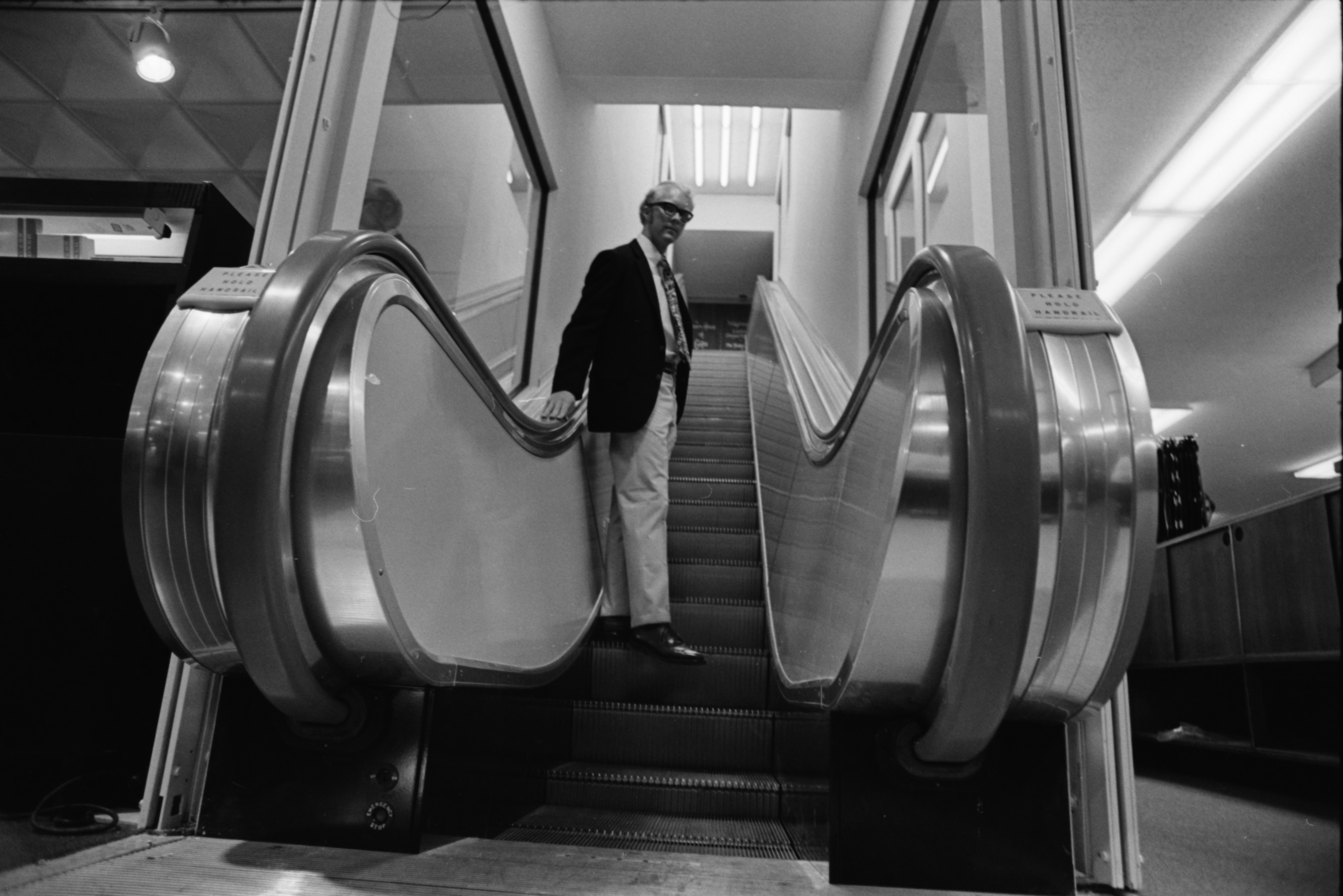 Ann Arbor's First Escalator, July 1969 image