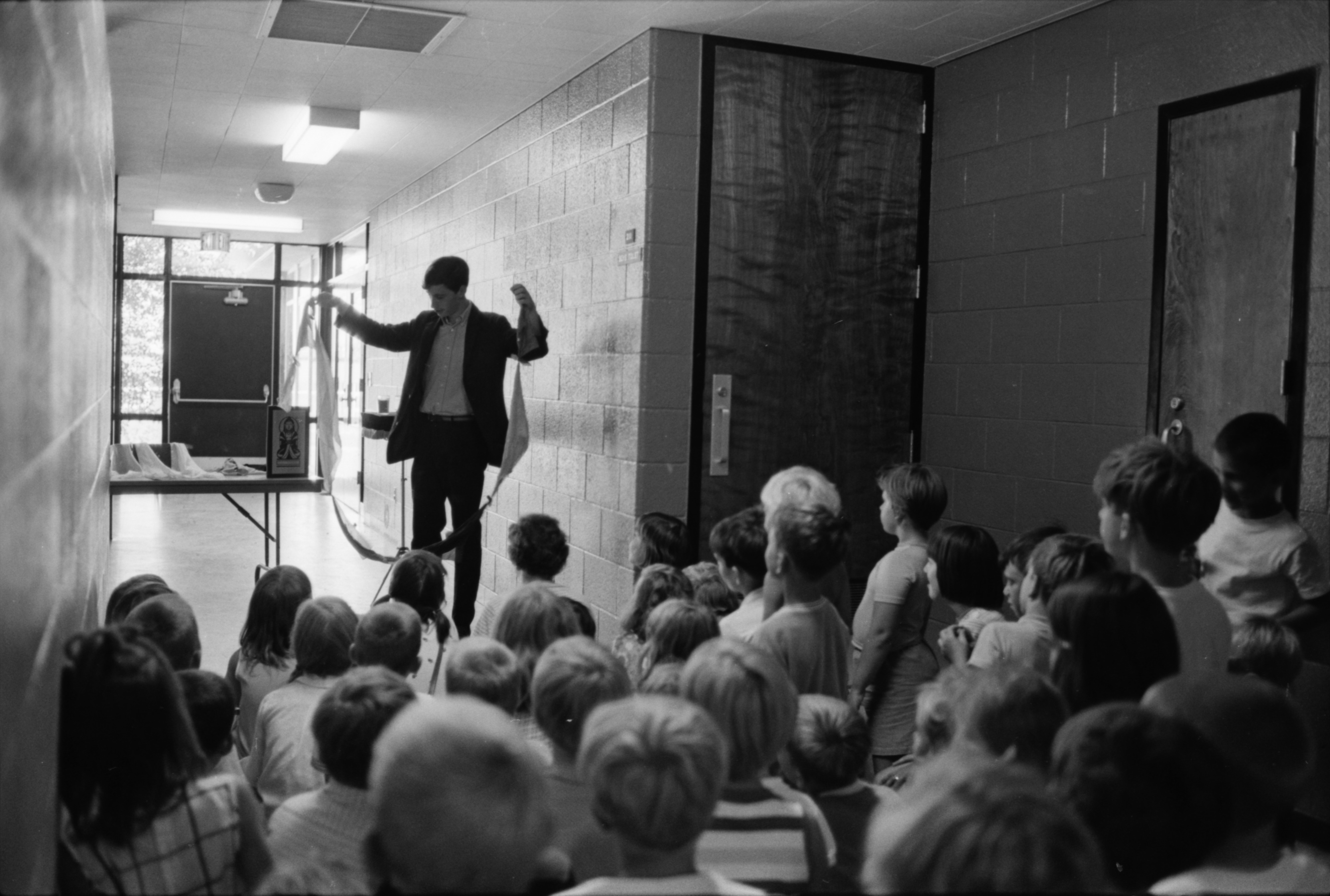 Teenage Magician Performs at Allen School, August 1969 image