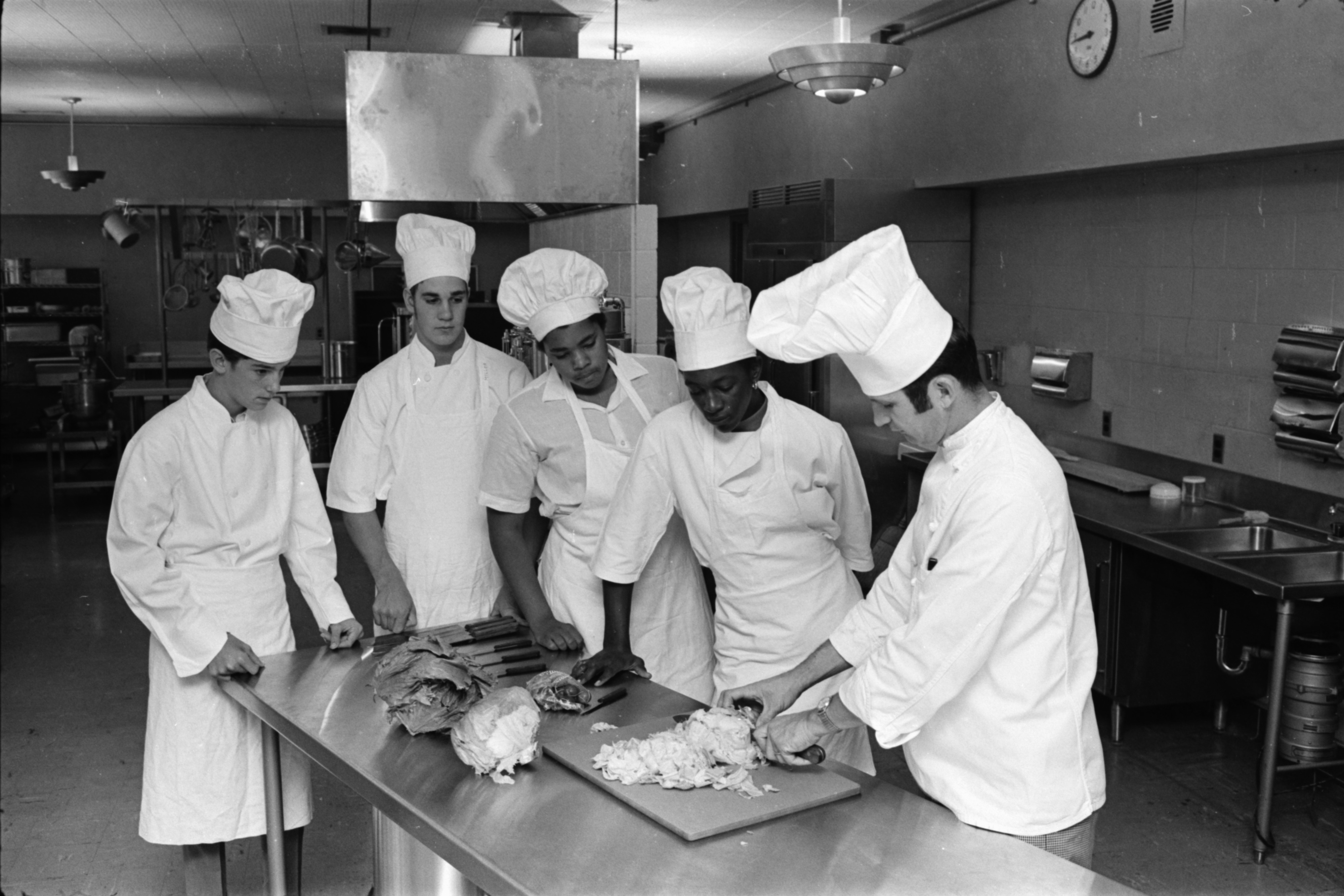 Students Attend New Food Classes at Pioneer High, September 1969 image