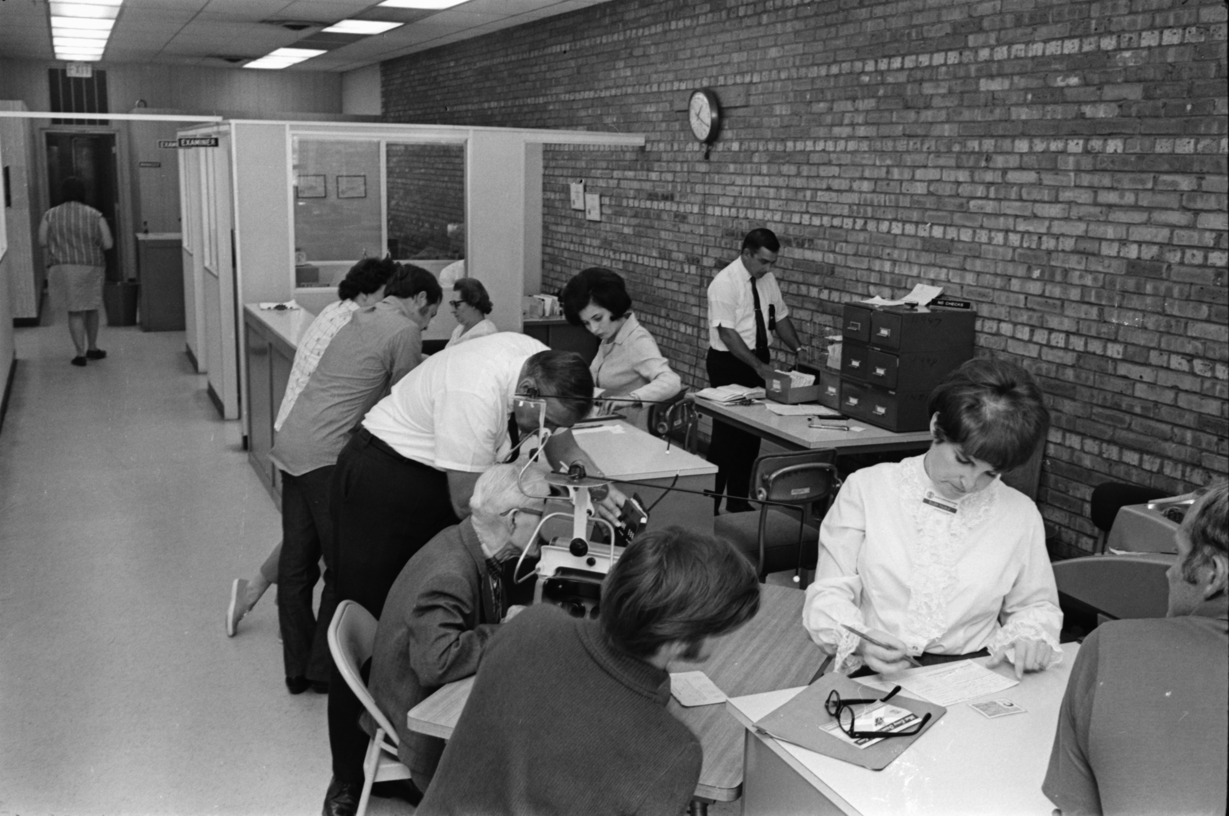 Driver's Licensing Bureau Busy, September 1969 image