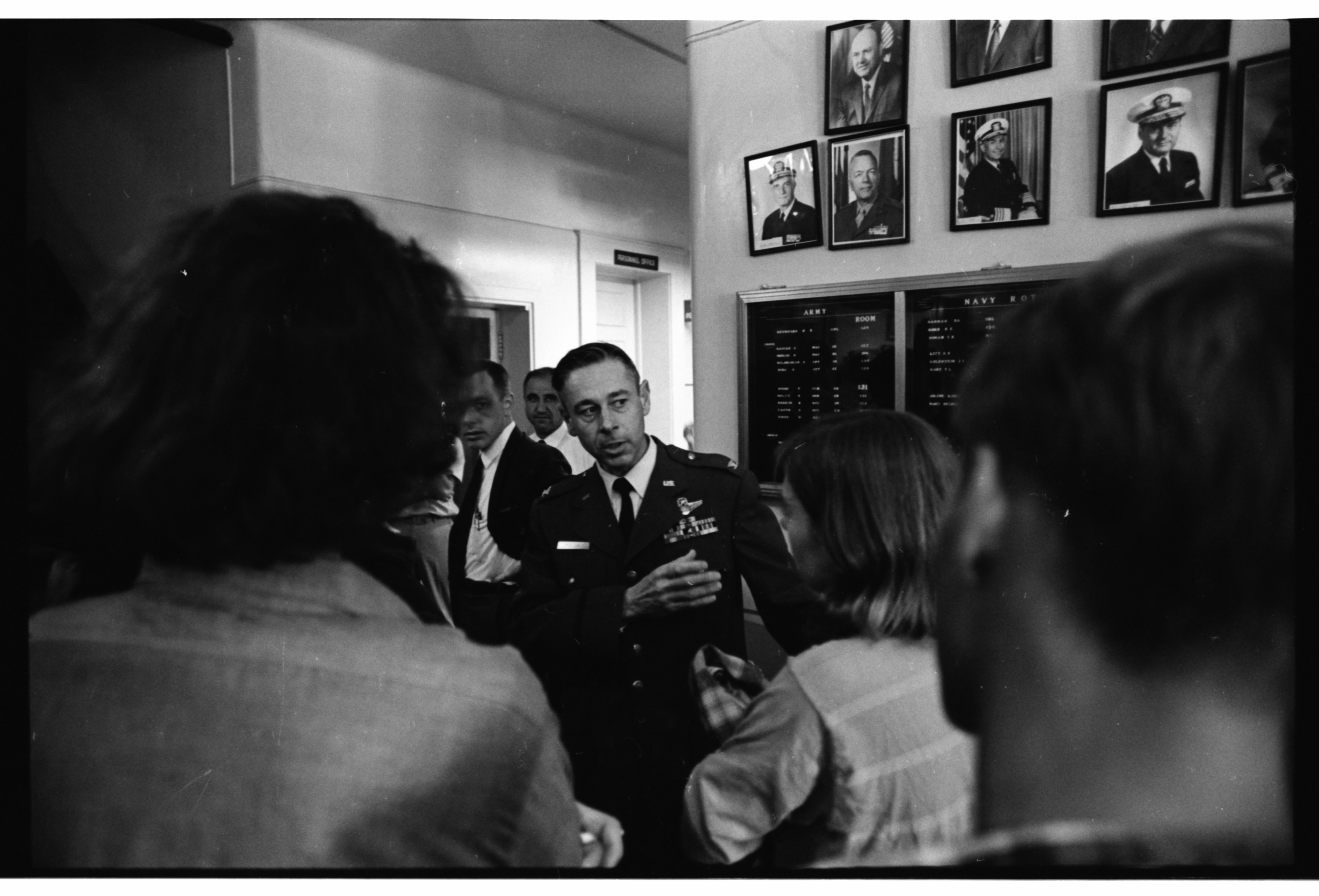 U-M Protesters Crowd Halls of ROTC Building, September 1969 image