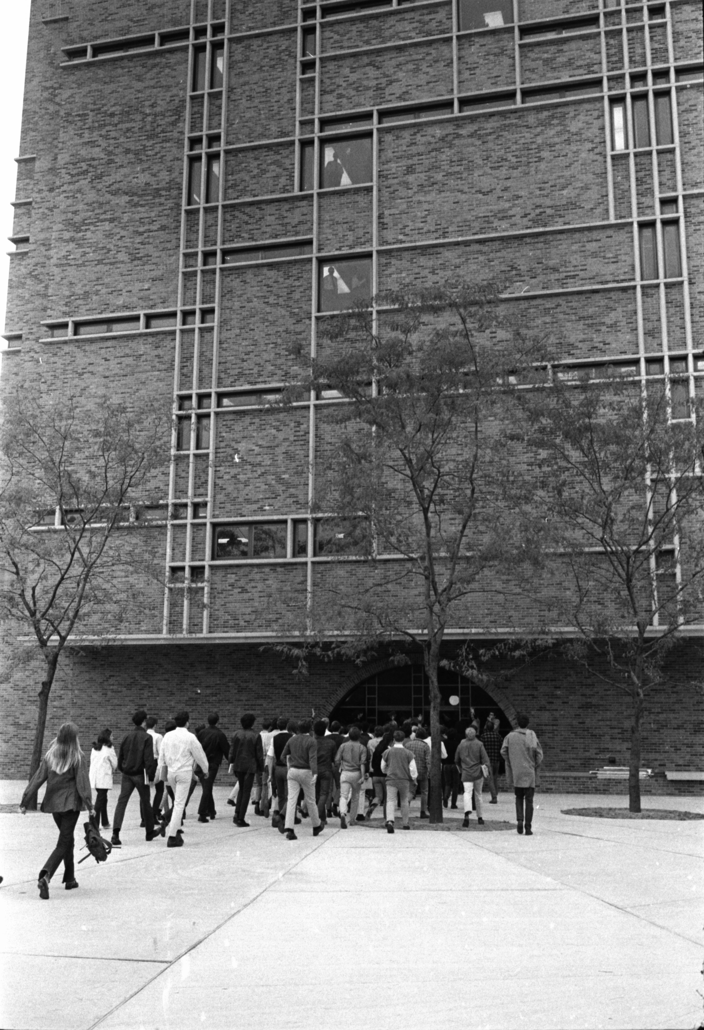 University of Michigan Students on way to Regents Meeting, September 1969 image