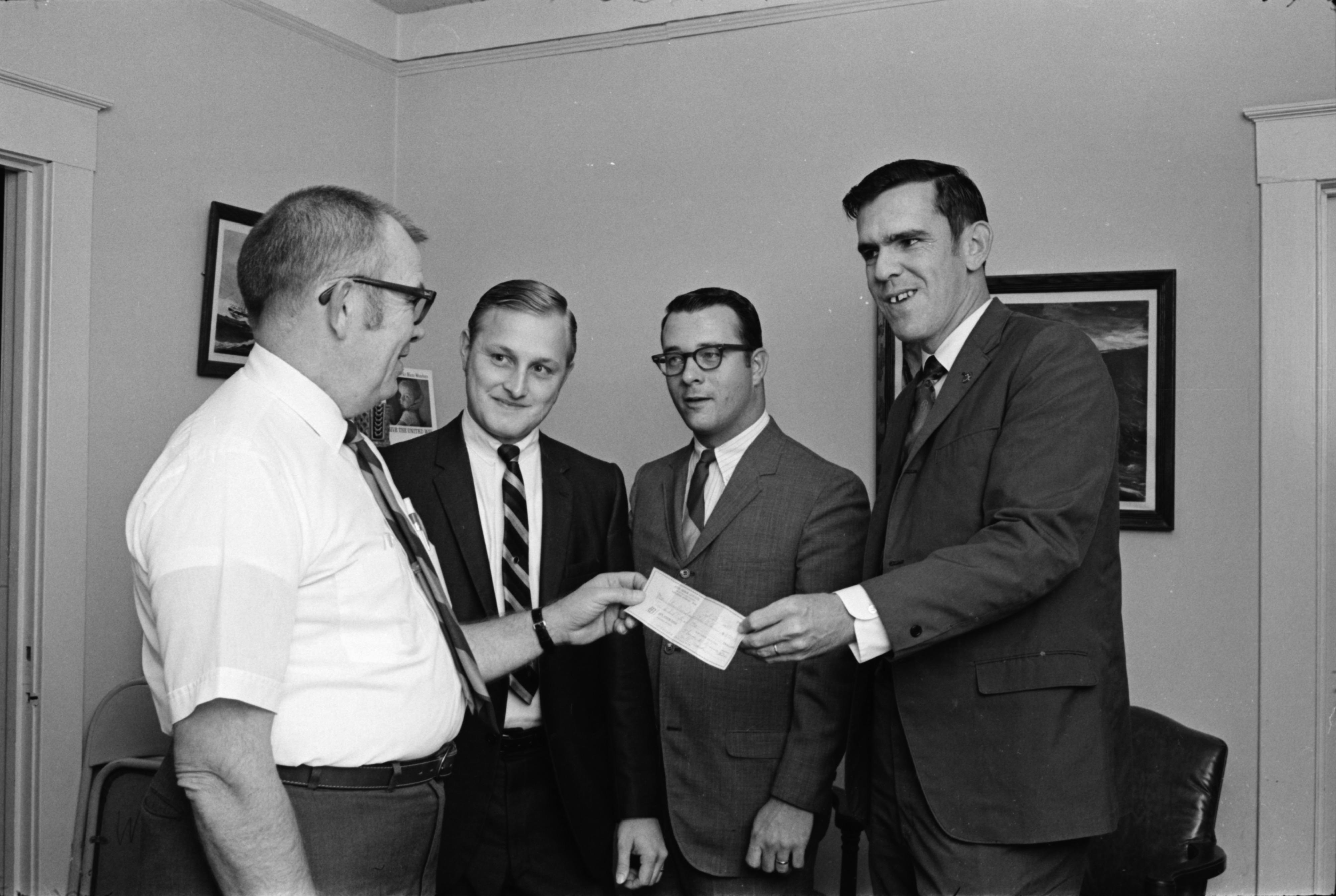 Jaycees Donate to Washtenaw Association for Retarded Children, September 1969 image