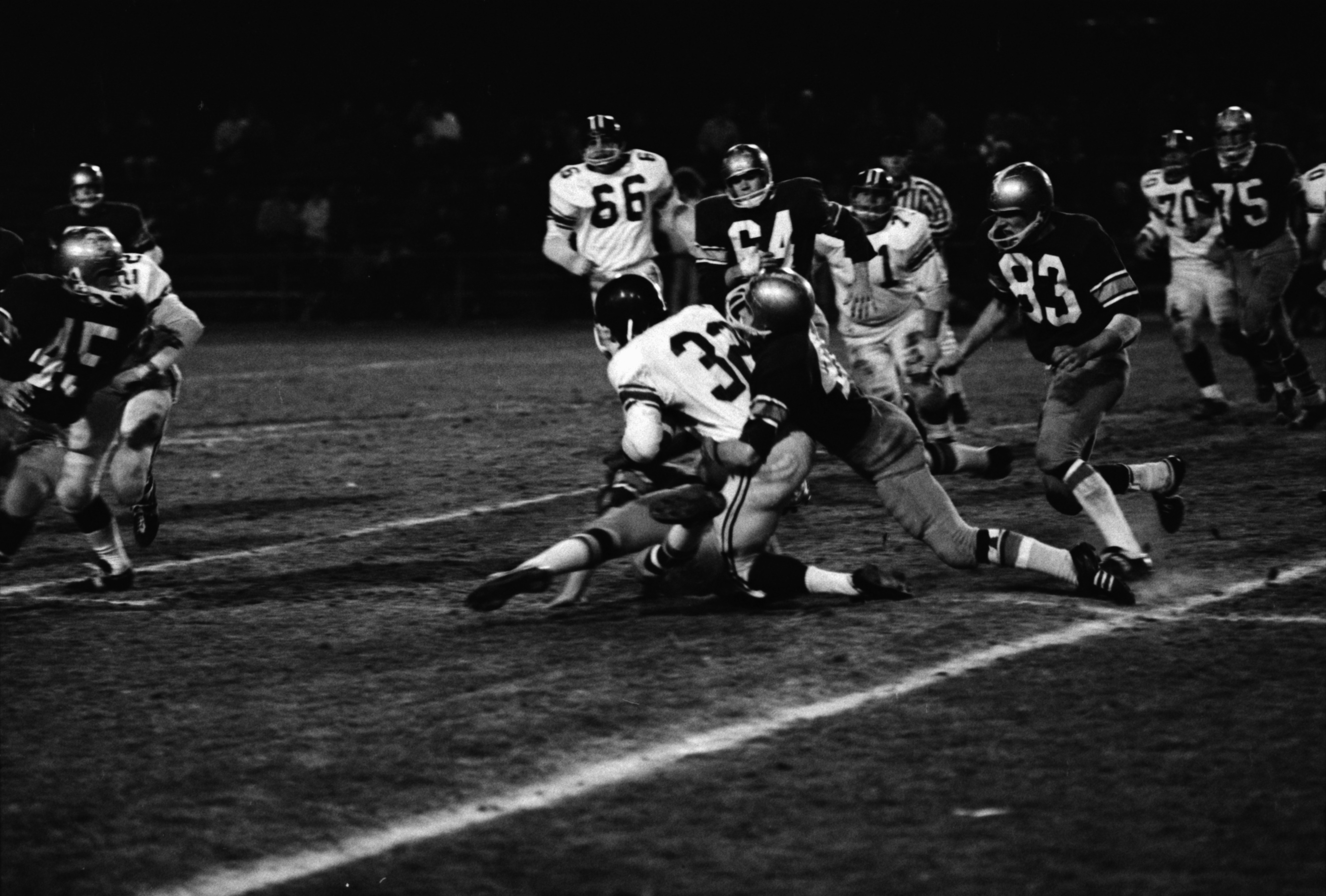Football: Huron High School Vs Battle Creek Lakeview High School, October 1969 image