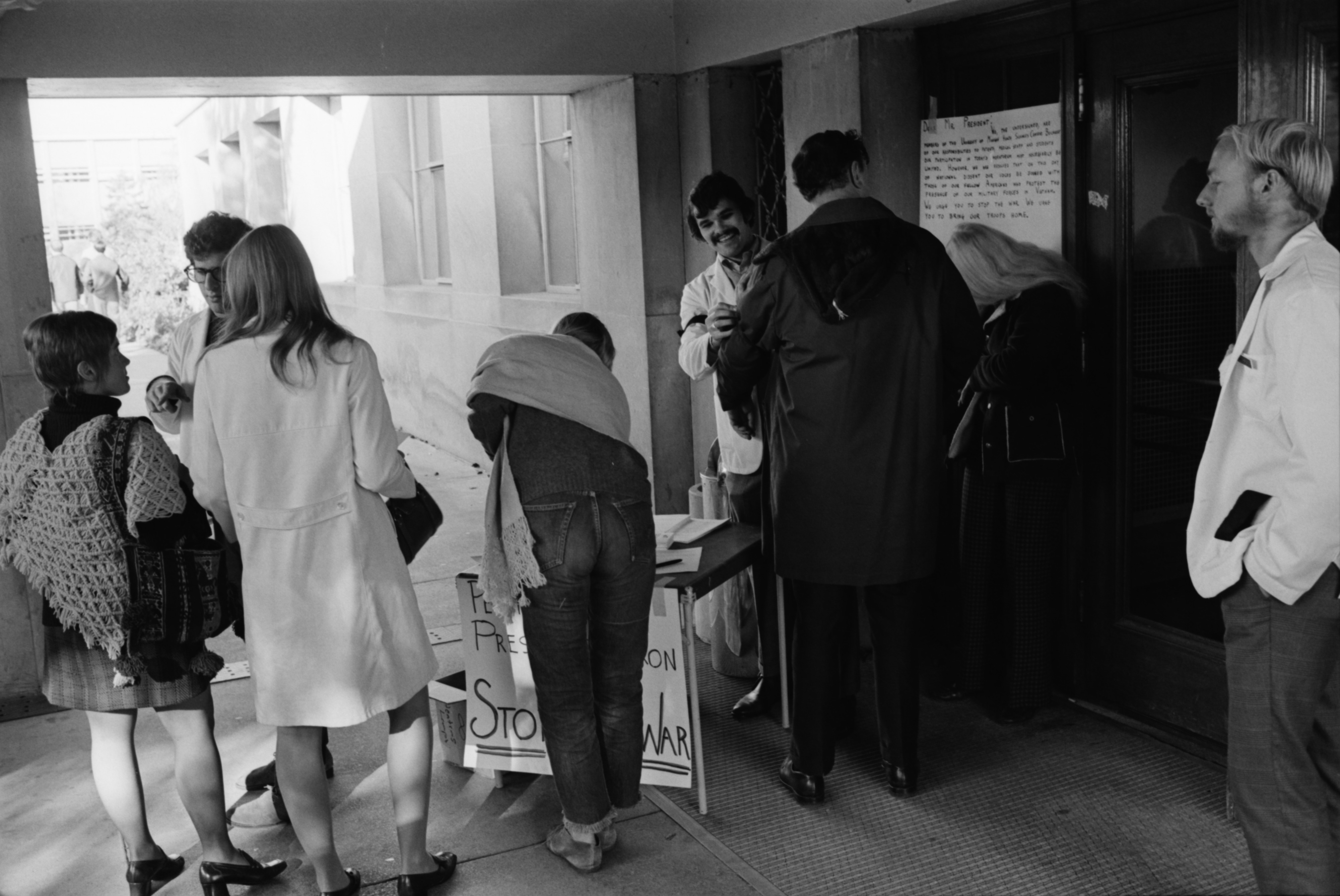 Anti-War Vigil Held at University Hospital, October 1969 image
