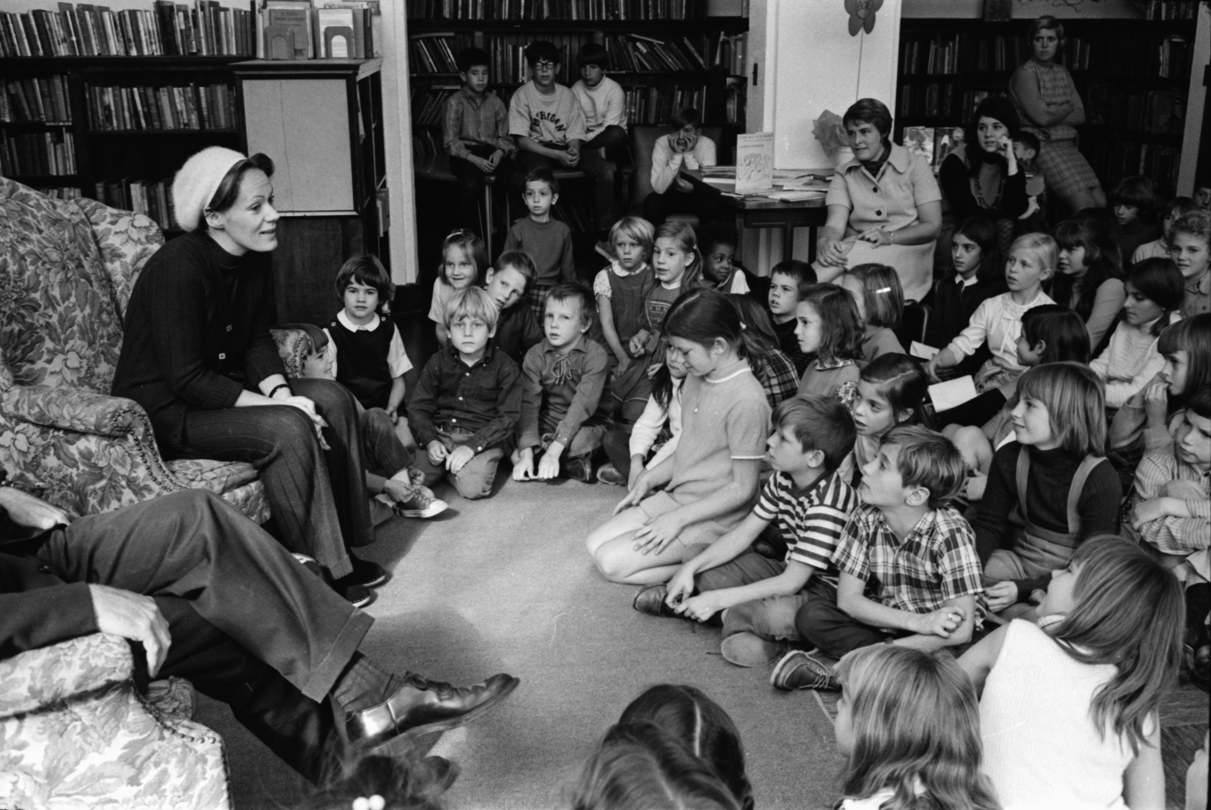 Actress Tammy Grimes Visits University Elementary School, October 1969 image