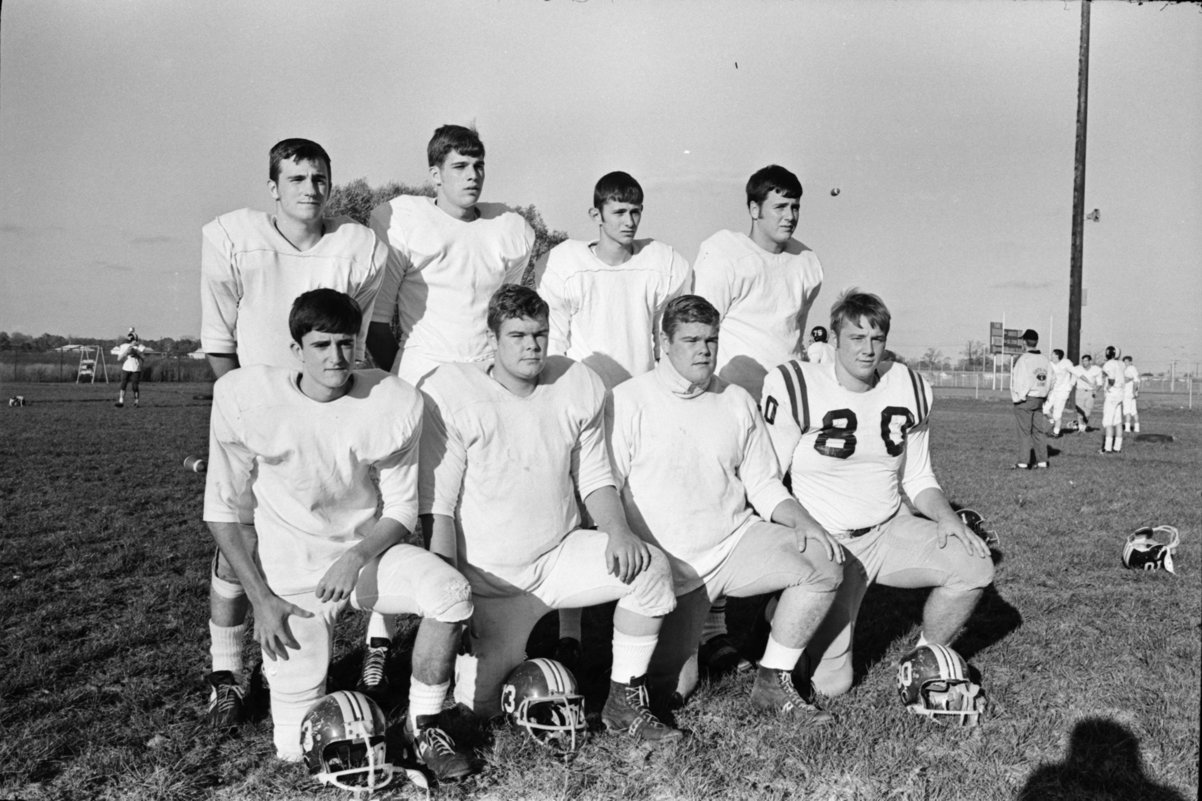 South Lyon High School Football Players, October 1969 image