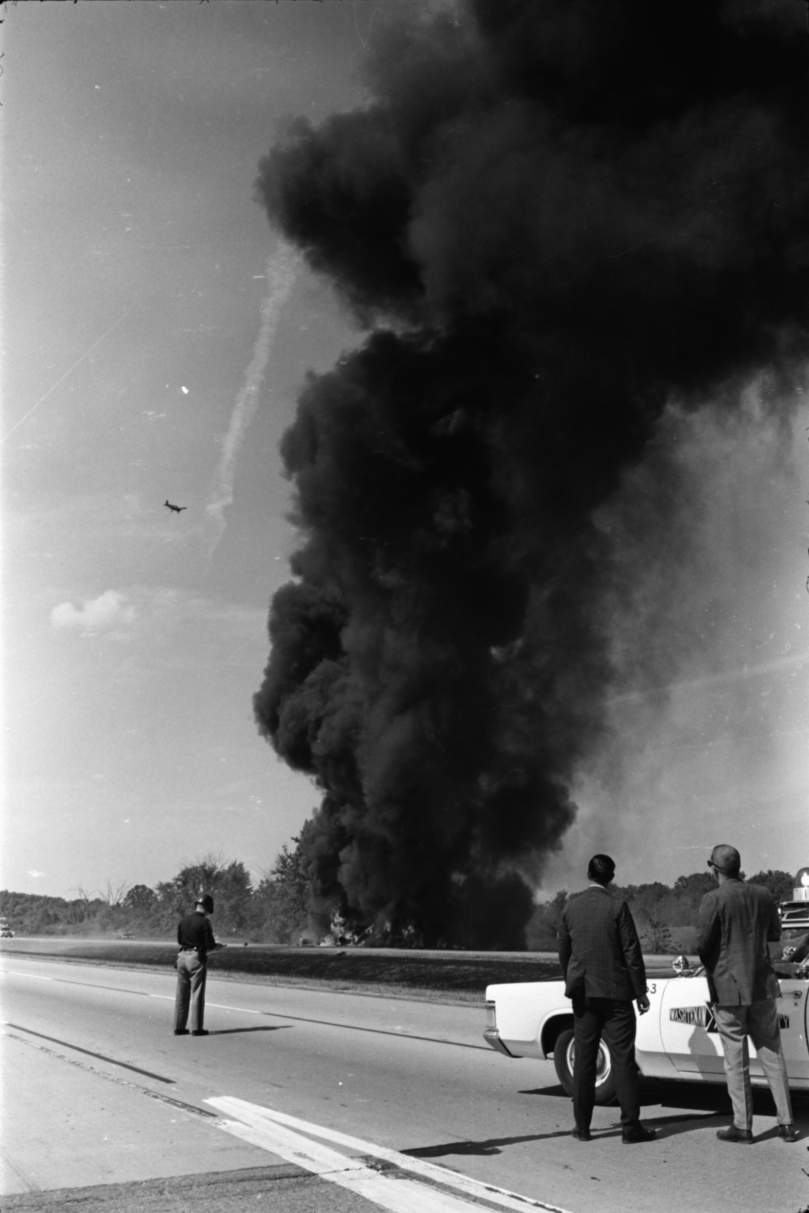Truck Blows Up on I-94, September 1969 image