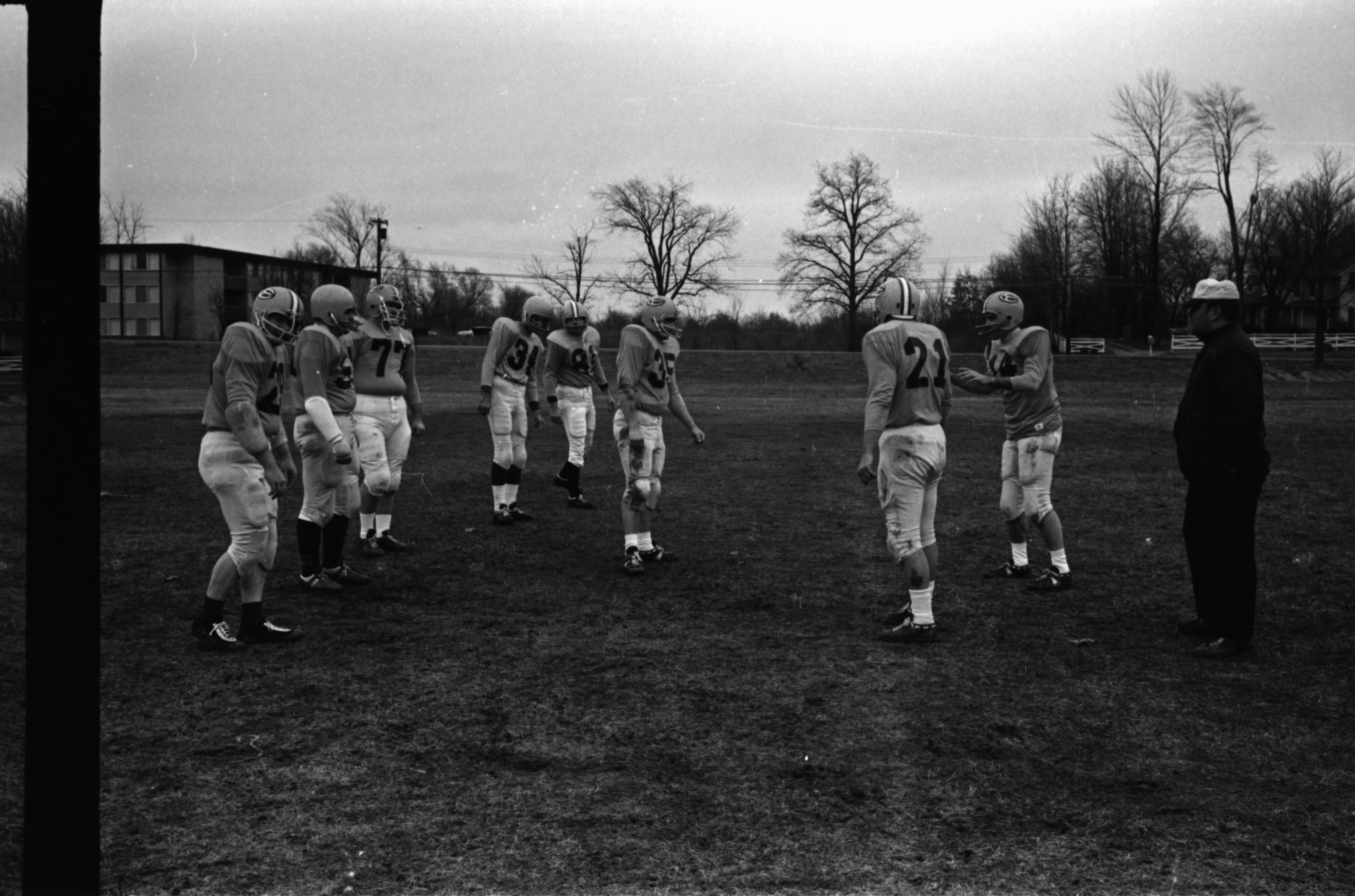 Sheriff Douglas J. Harvey and Pigs Football Practice, December 1969 image