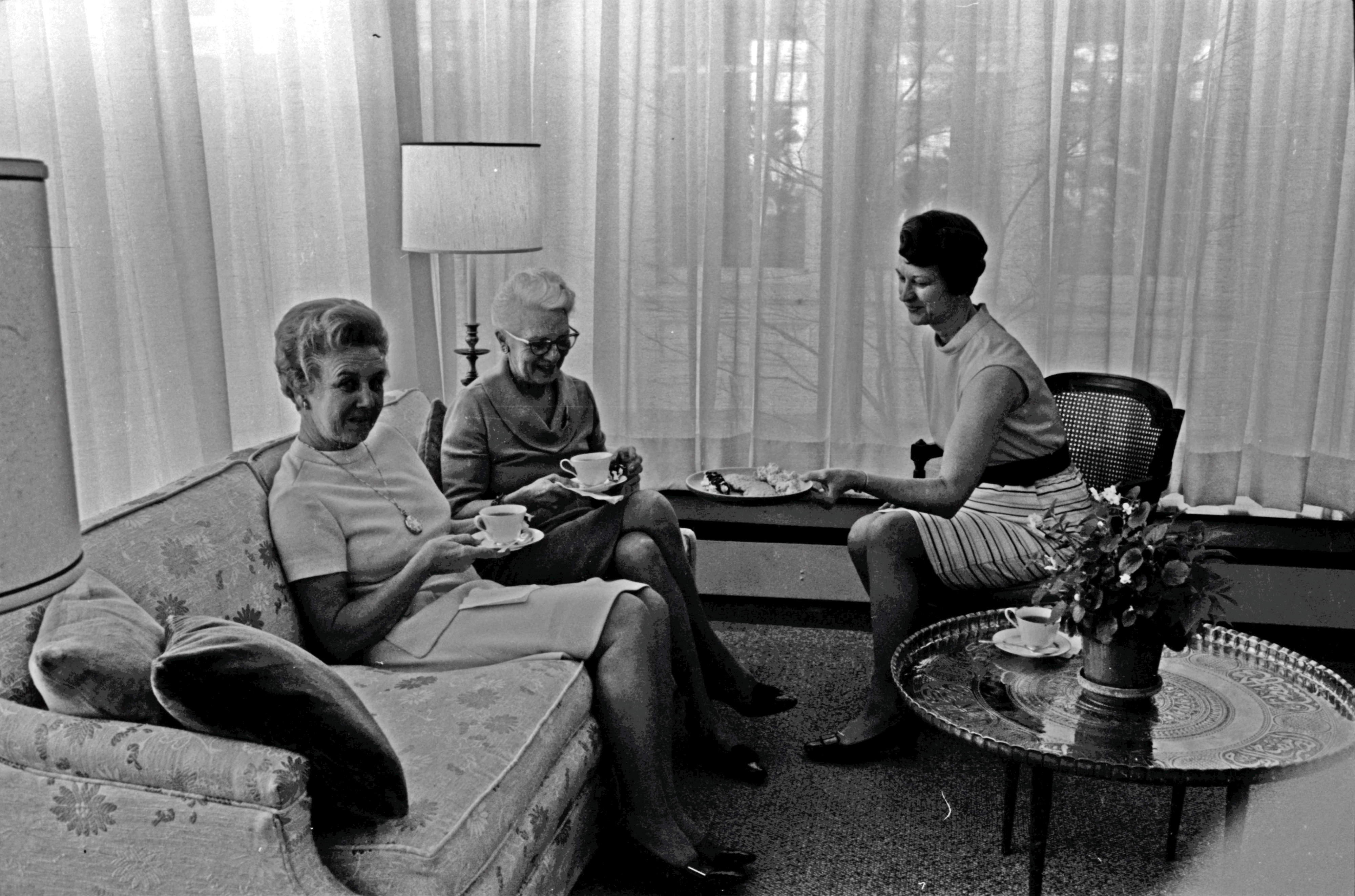 University of Michigan Faculty Women's Club Meets for Tea, March 1970 image
