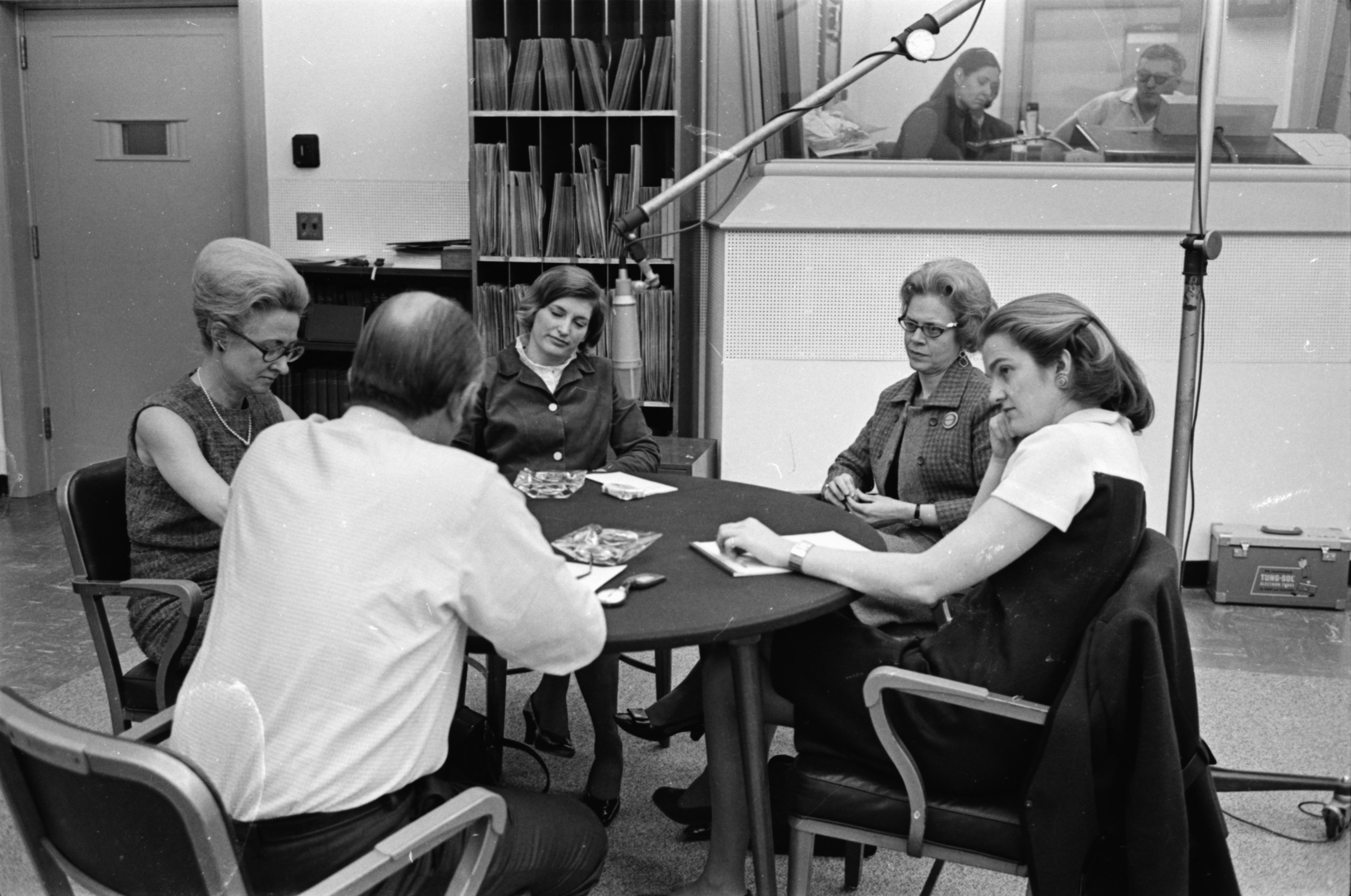 "Four Women Discuss Women's Rights with ""Eleventh Hour"" Host Ed Burrows, March 1970 image"