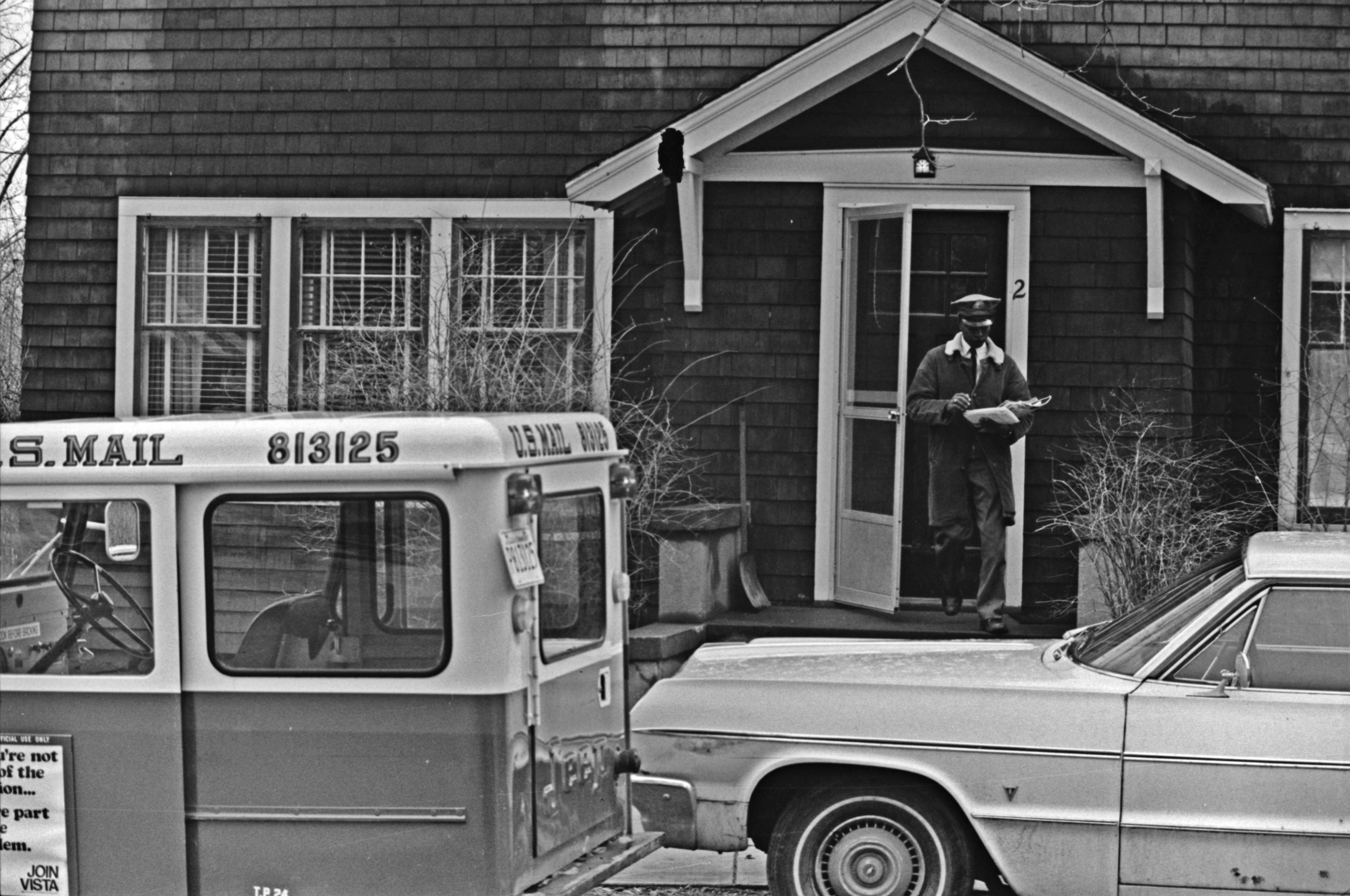 Mail Carrier Jimmie Green Back at Work after Mail Carrier Strike, March 1970 image