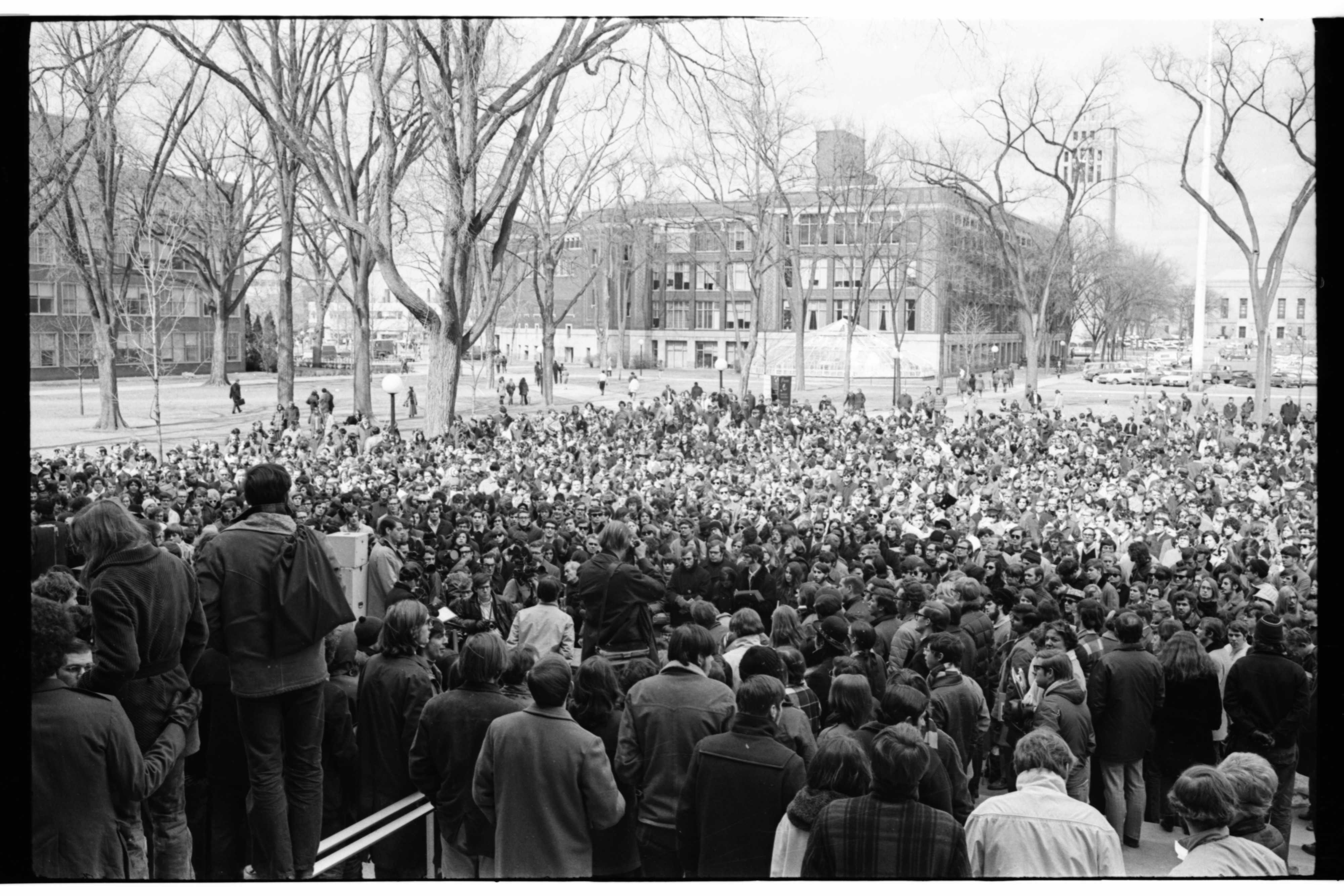 ENACT Eco-Rally on University of Michigan Diag, March 1970 image