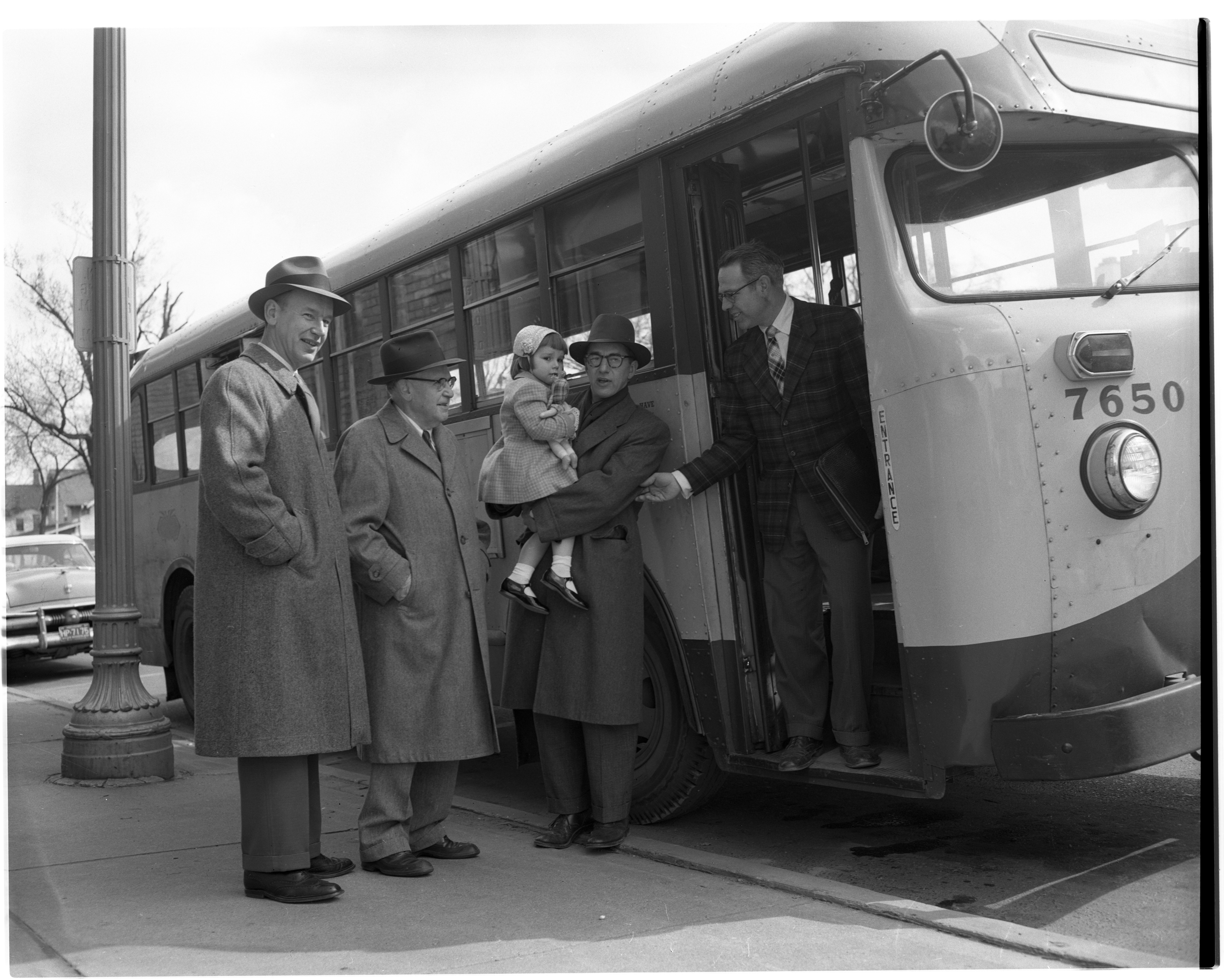Inspection Of A New Ann Arbor Bus, April 1957 image