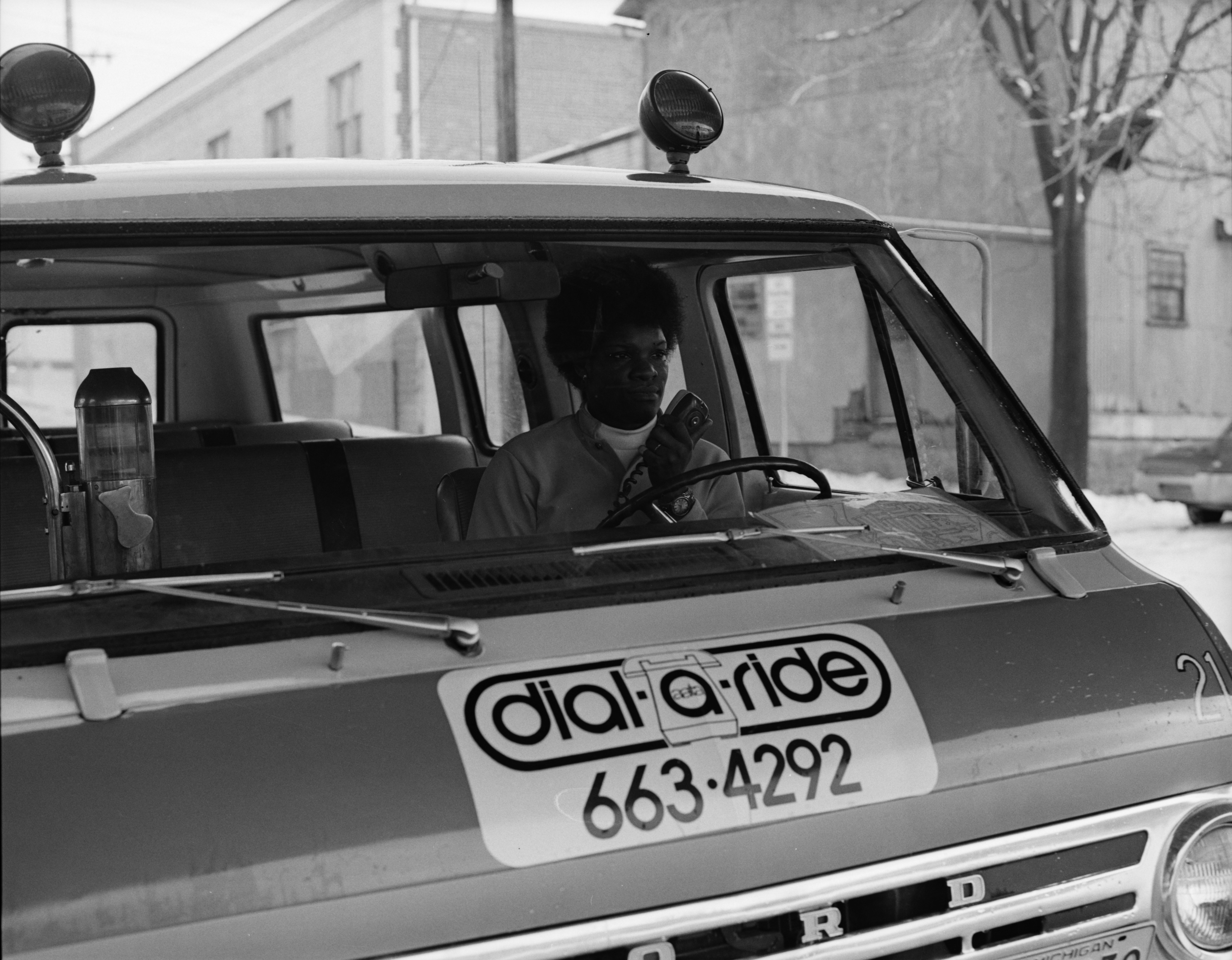 New Dial-A-Ride Driver Gladys Pressley, January 1972 image