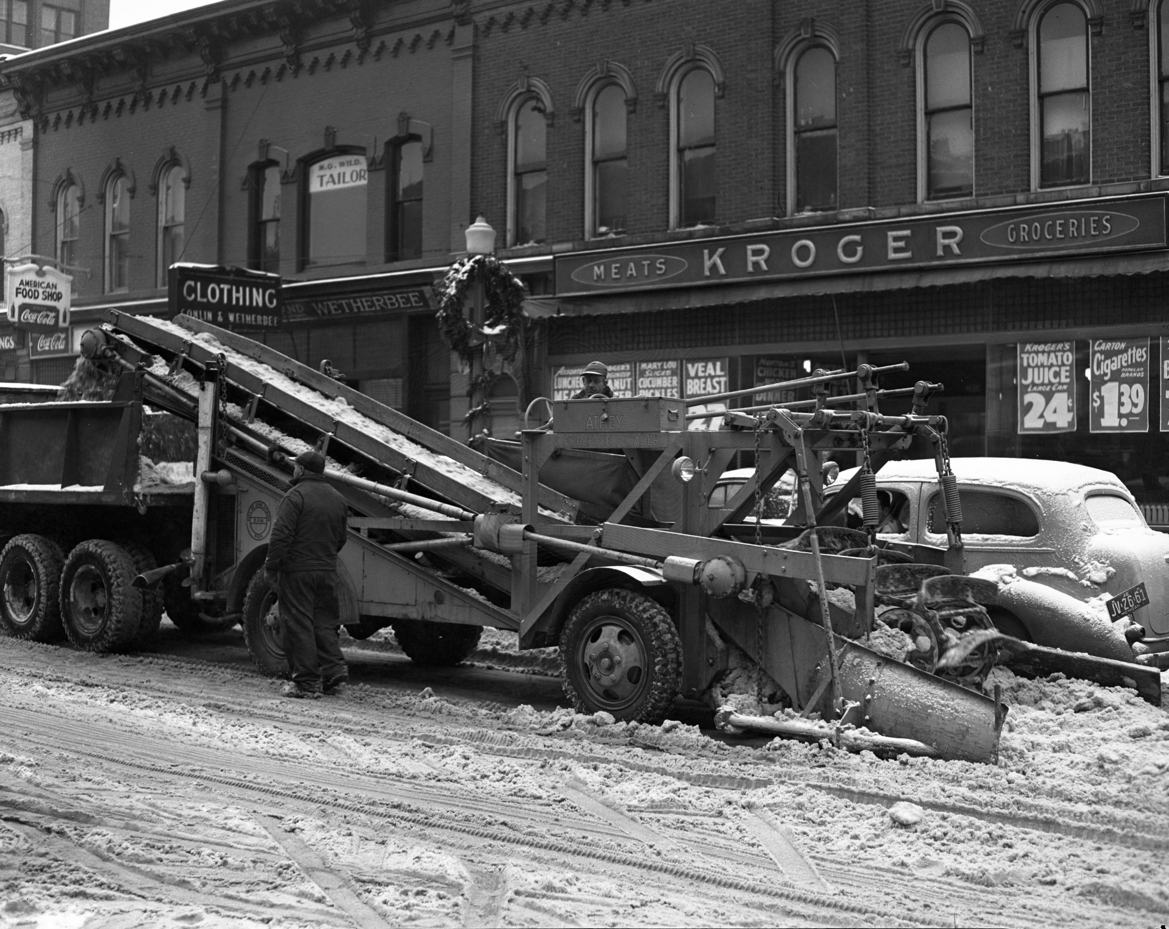 News Snow Removal Apparatus on Washington Street, January 1947 image