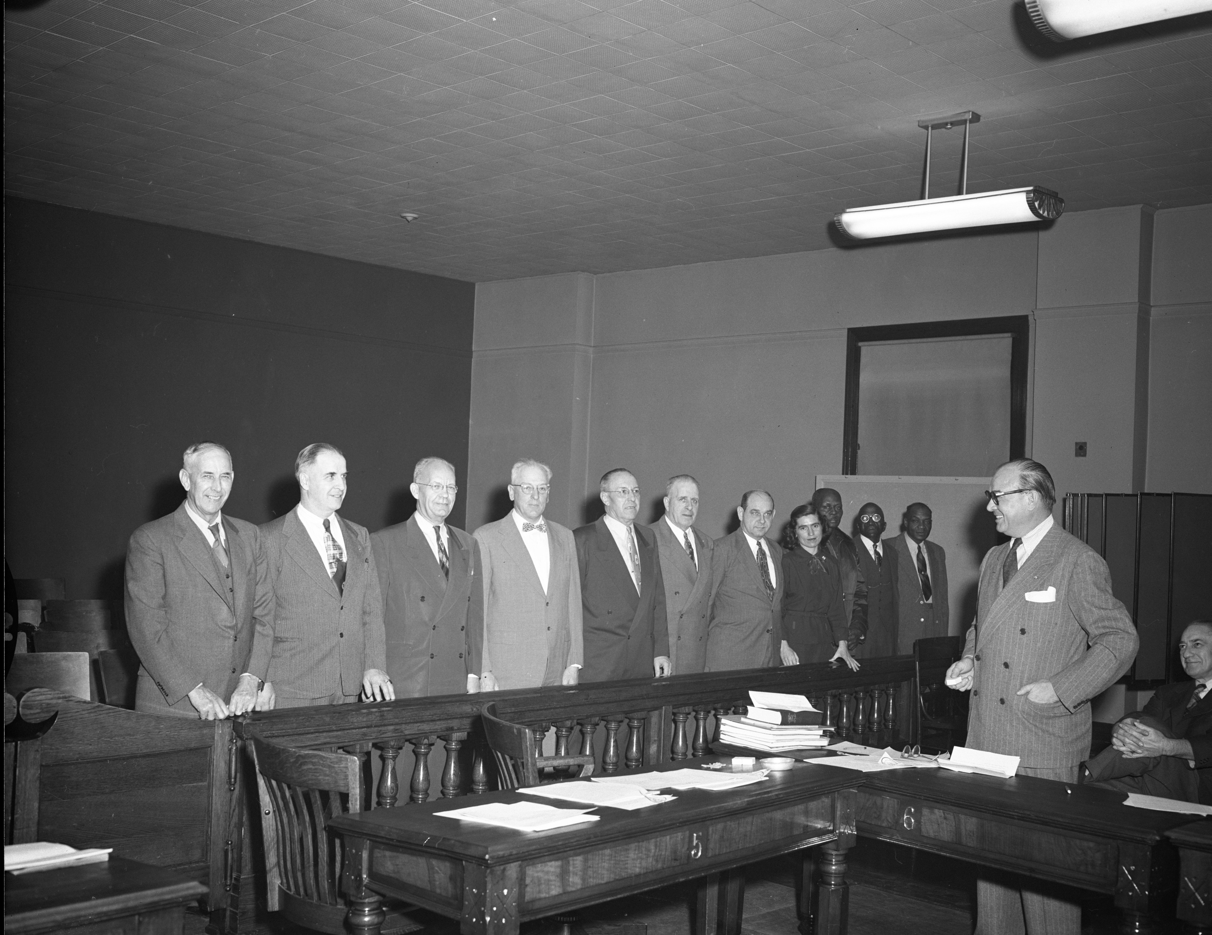 Ann Arbor City Employees Honored With 30, 25 and 10 Year Pins, January 1954 image