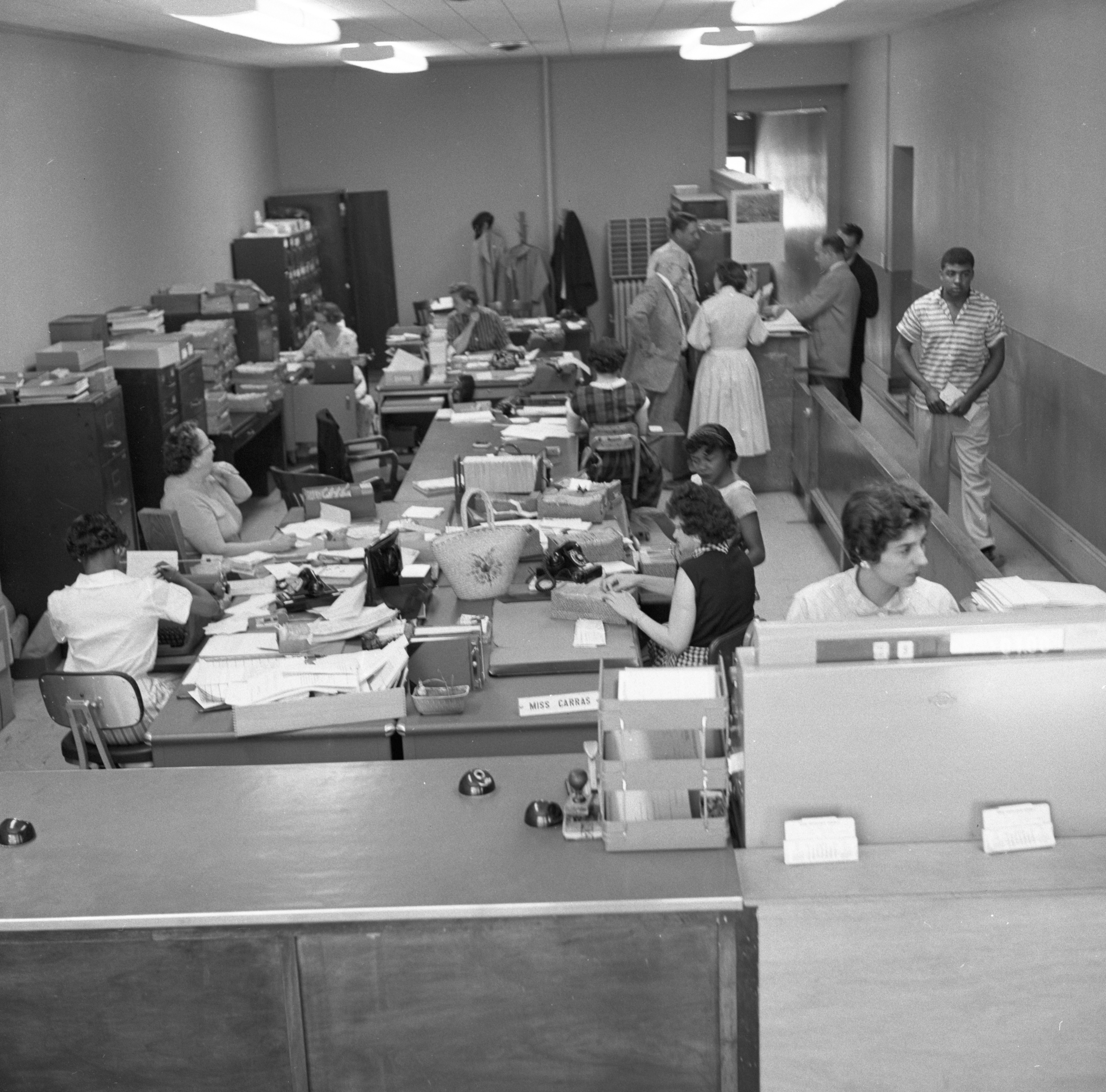 Ann Arbor Municipal Court Office, May 1958 image