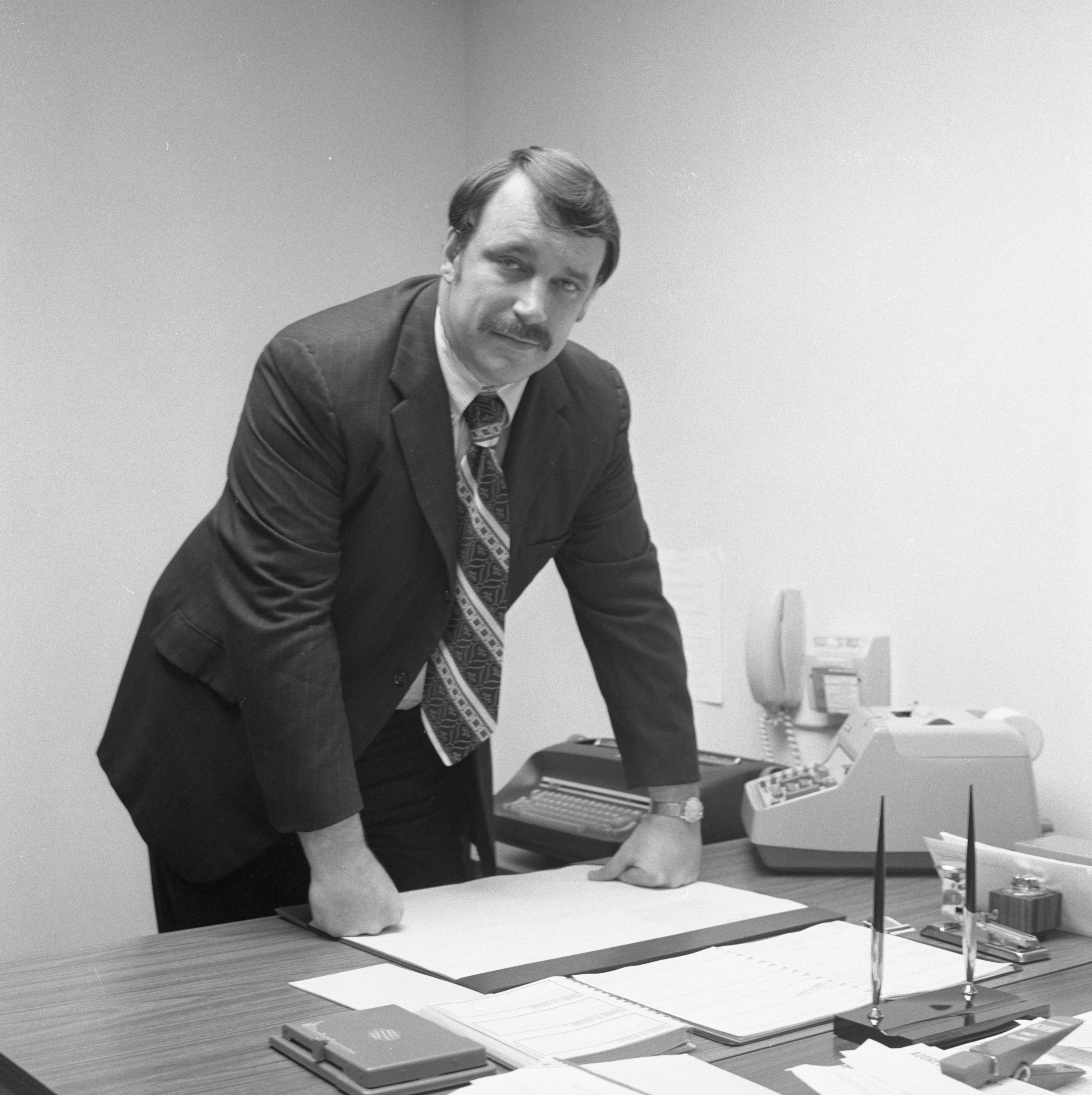 Bob Weaver, Second Ward Councilman, In His Office, November 1971 image