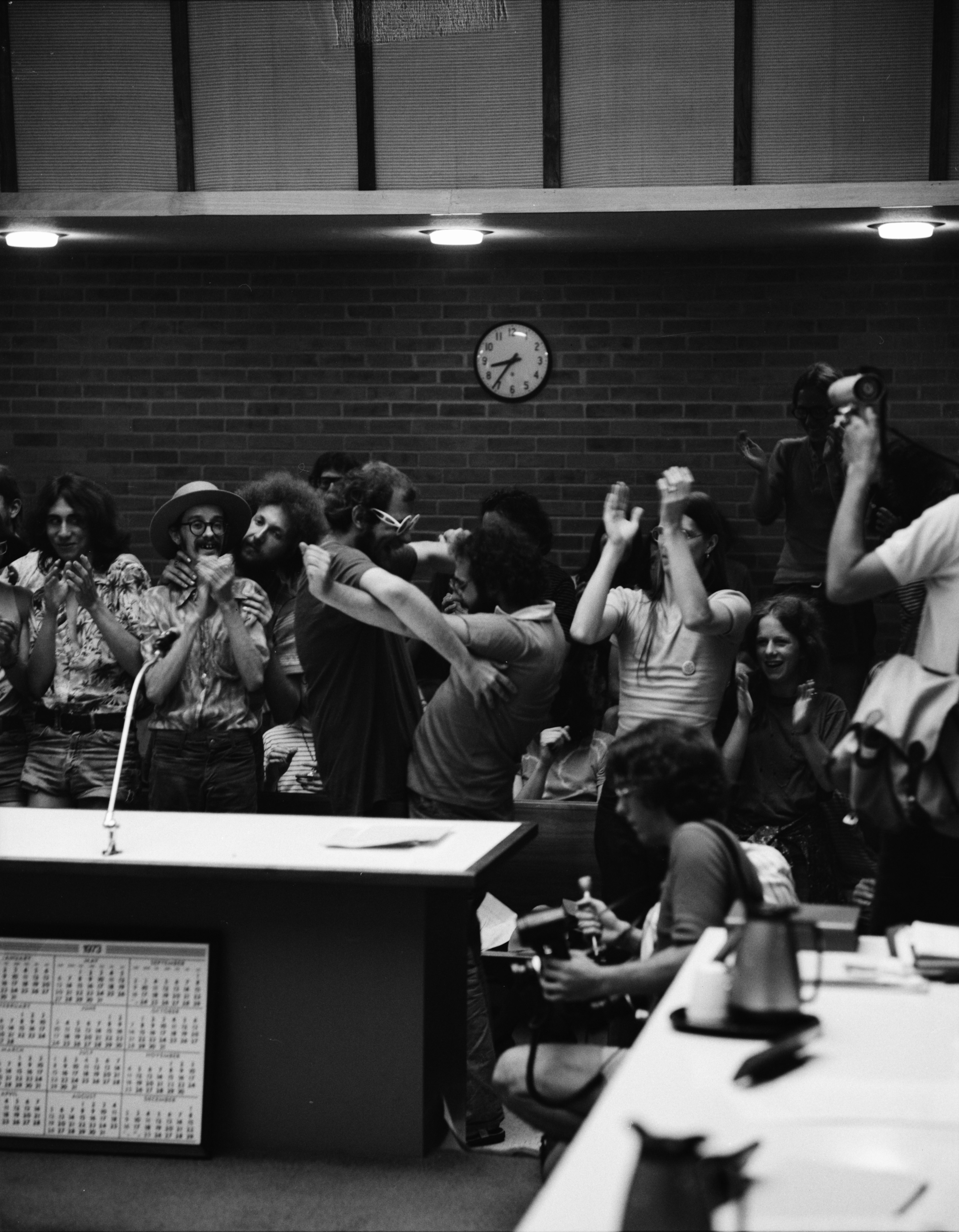 Audience Members During Ann Arbor City Council Hearing On Repealing Pot Ordinance, July 10, 1973 image