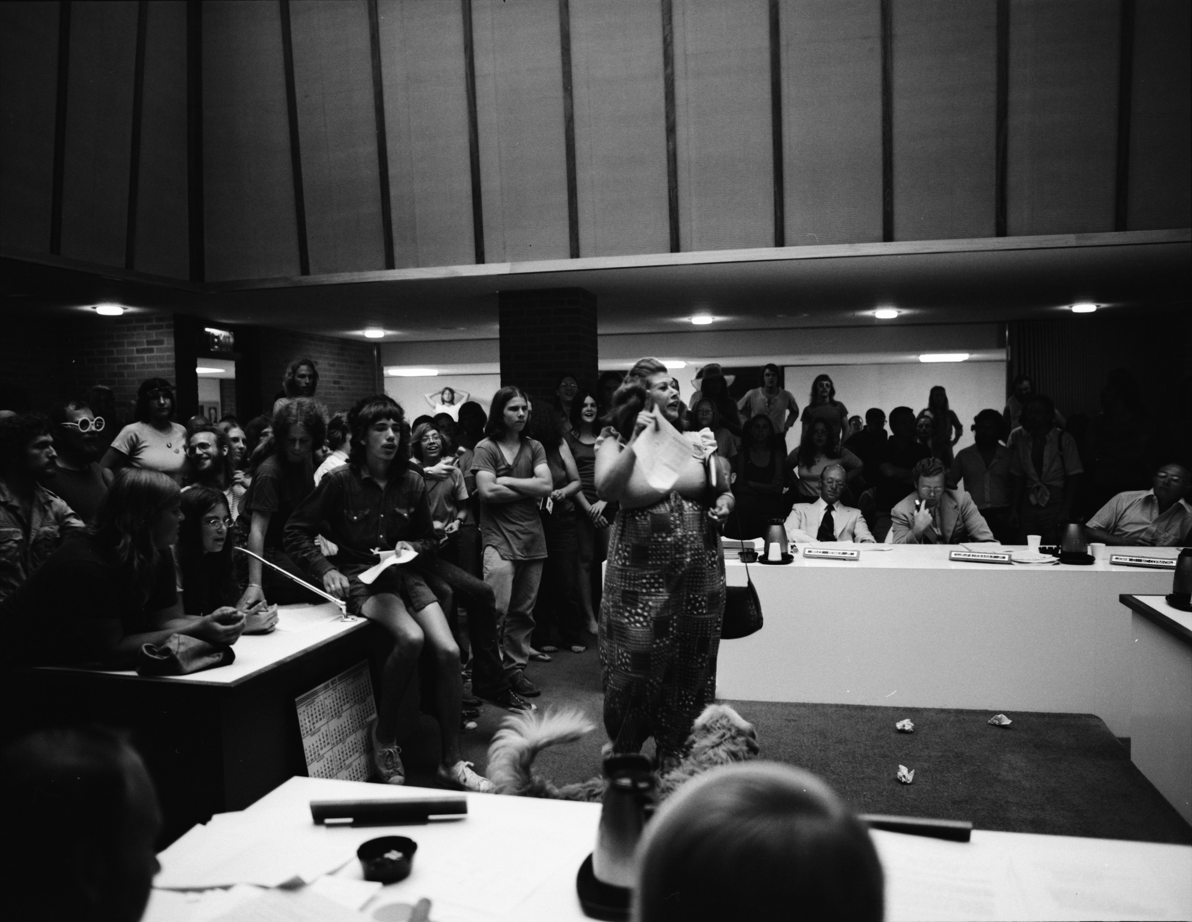 Imogene Cole Addresses City Council In Support Of Pot Ordinance, July 10, 1973 image