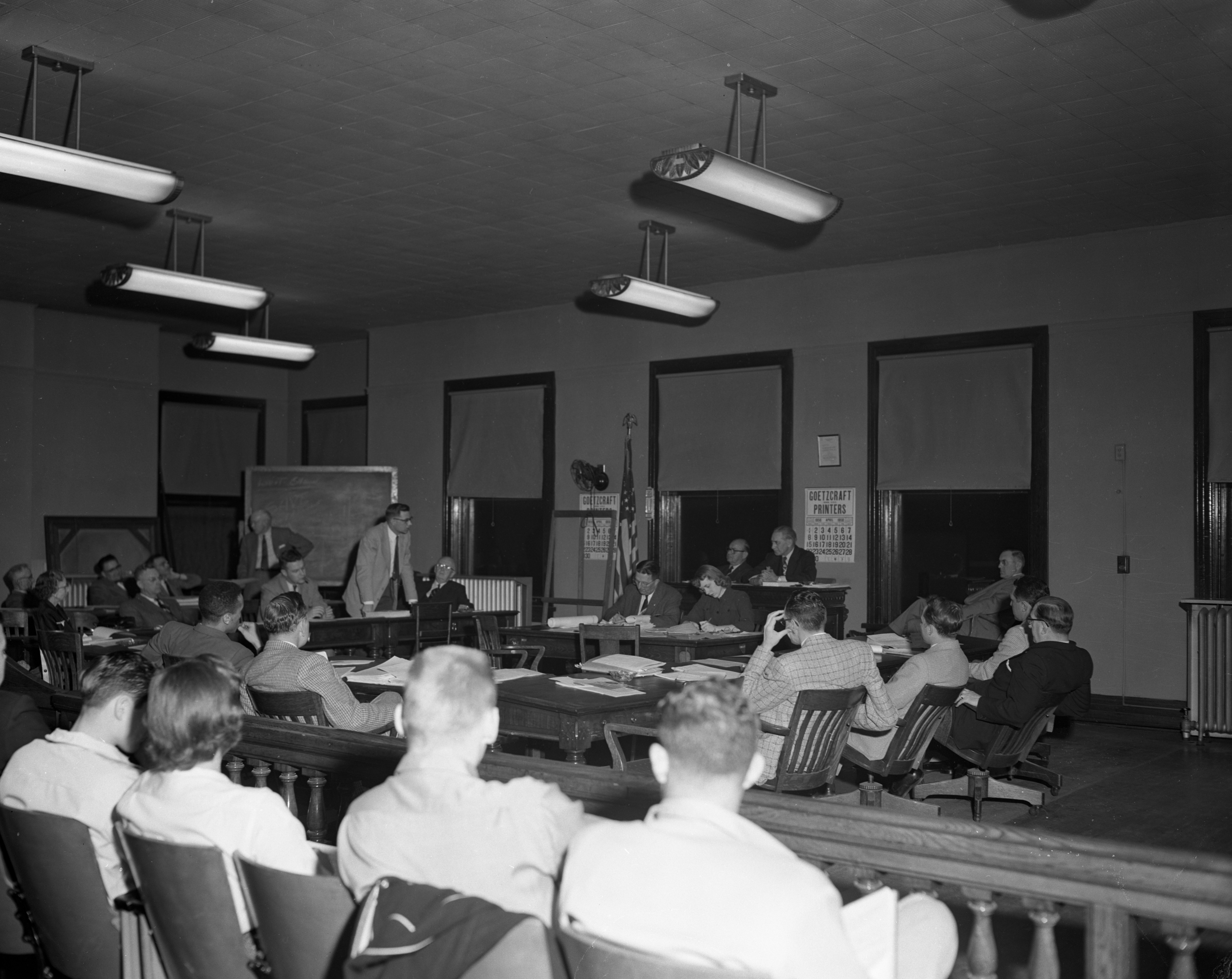 Last meeting of Old City Council charter, April 1956 image