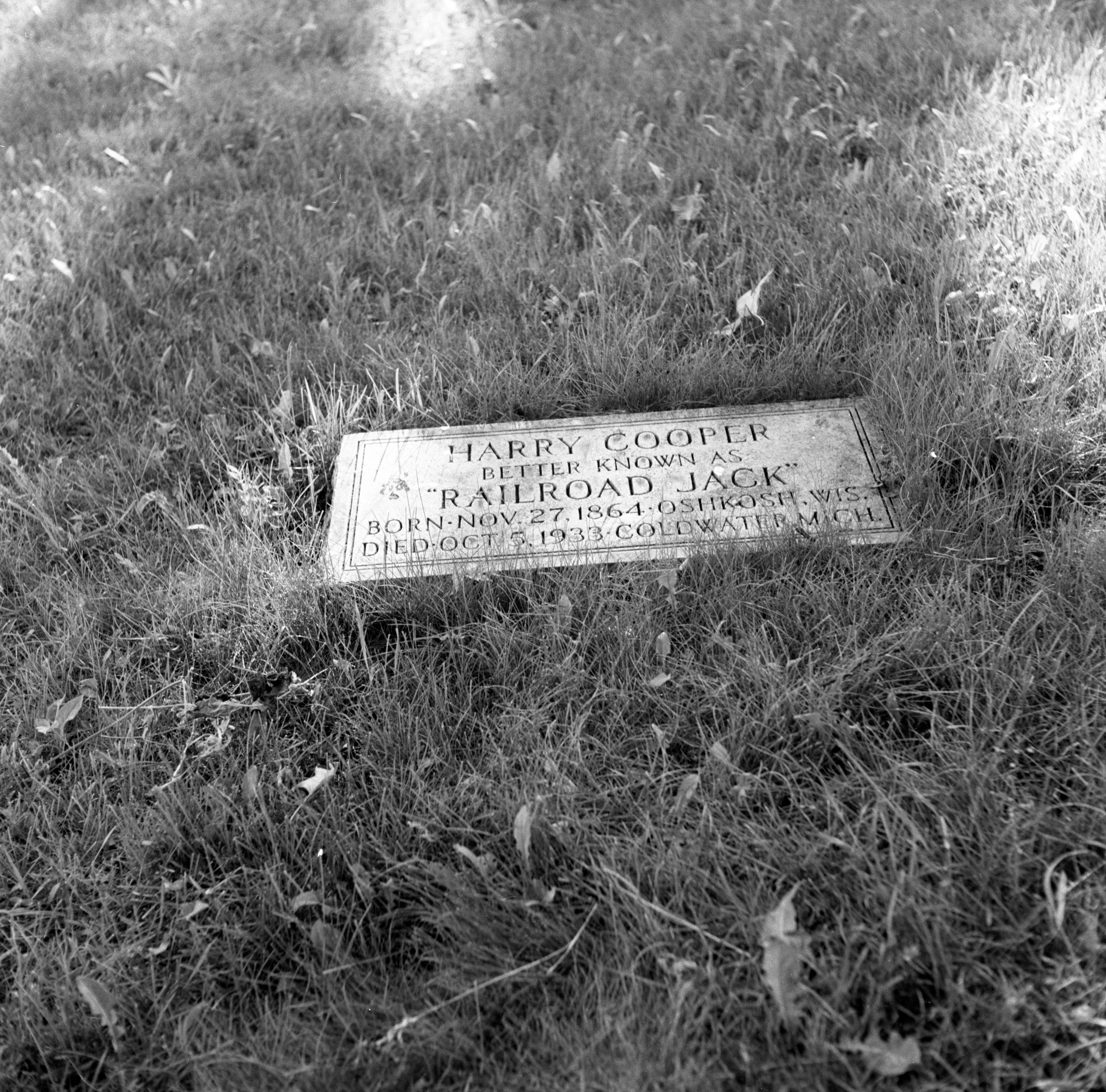 Railroad Jack's Grave - St. Thomas Cemetery, June 1959 image