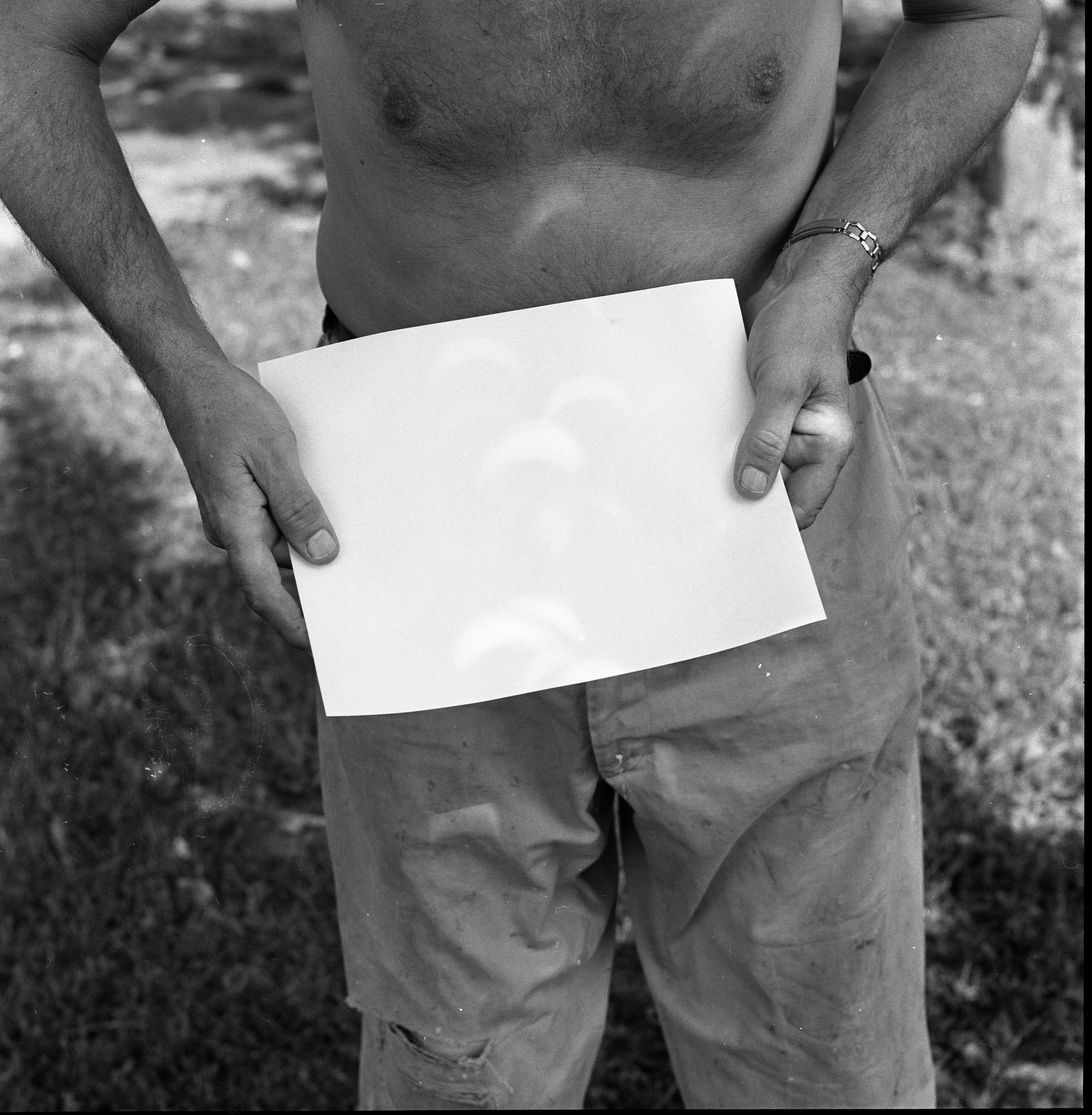 Anthony Haven Shows How He Uses Paper To Observe Solar Eclipse, July 22, 1963 image