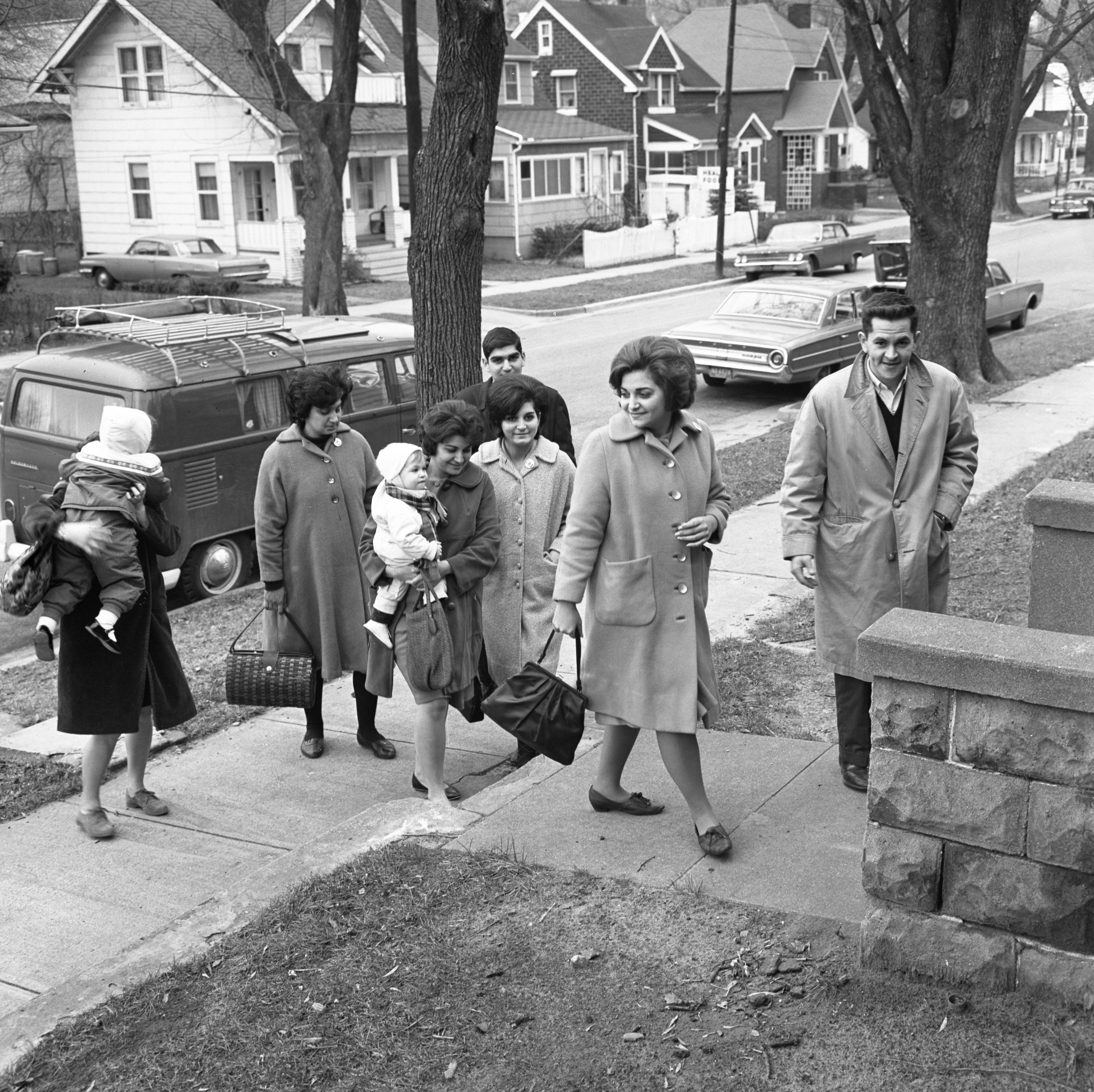 The Fornes Family, Cuban Refugees, Arrive At Their New Ann Arbor Home, December 1965 image