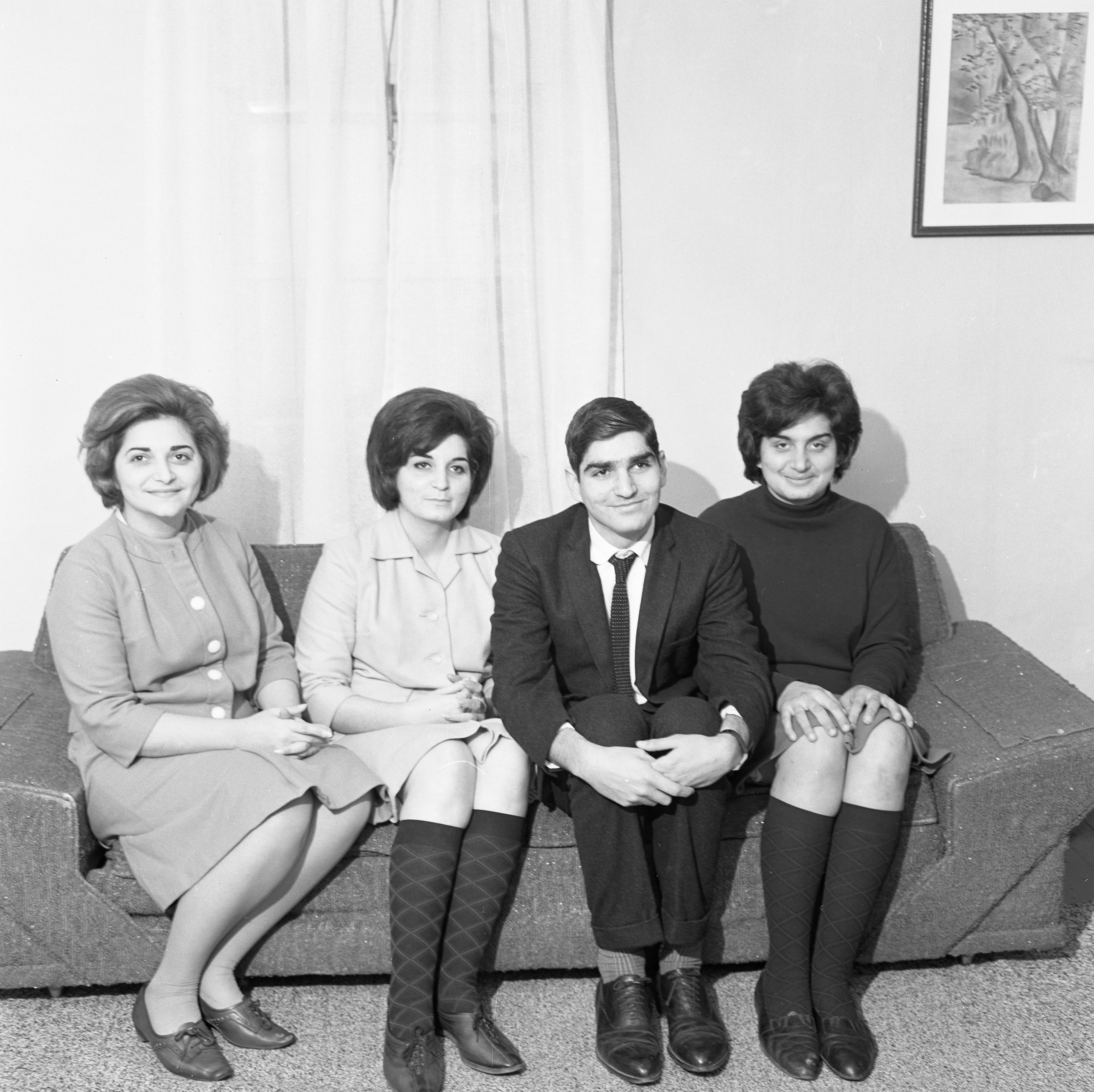 The Fornes Family, Cuban Refugees, In Their New Ann Arbor Home, December 1965 image