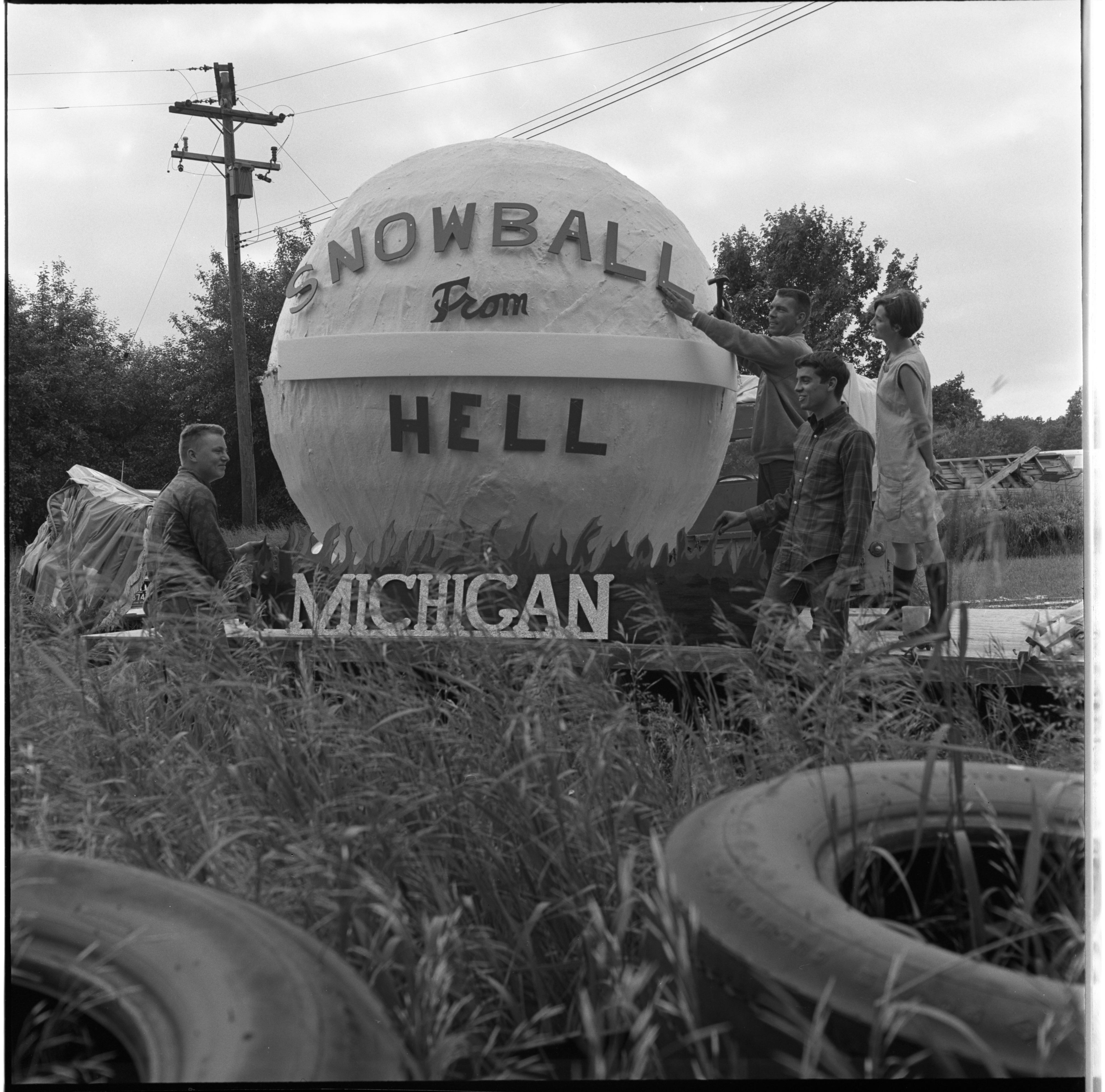 400 Pound 'Snowball From Hell' Going South, June 1969 image