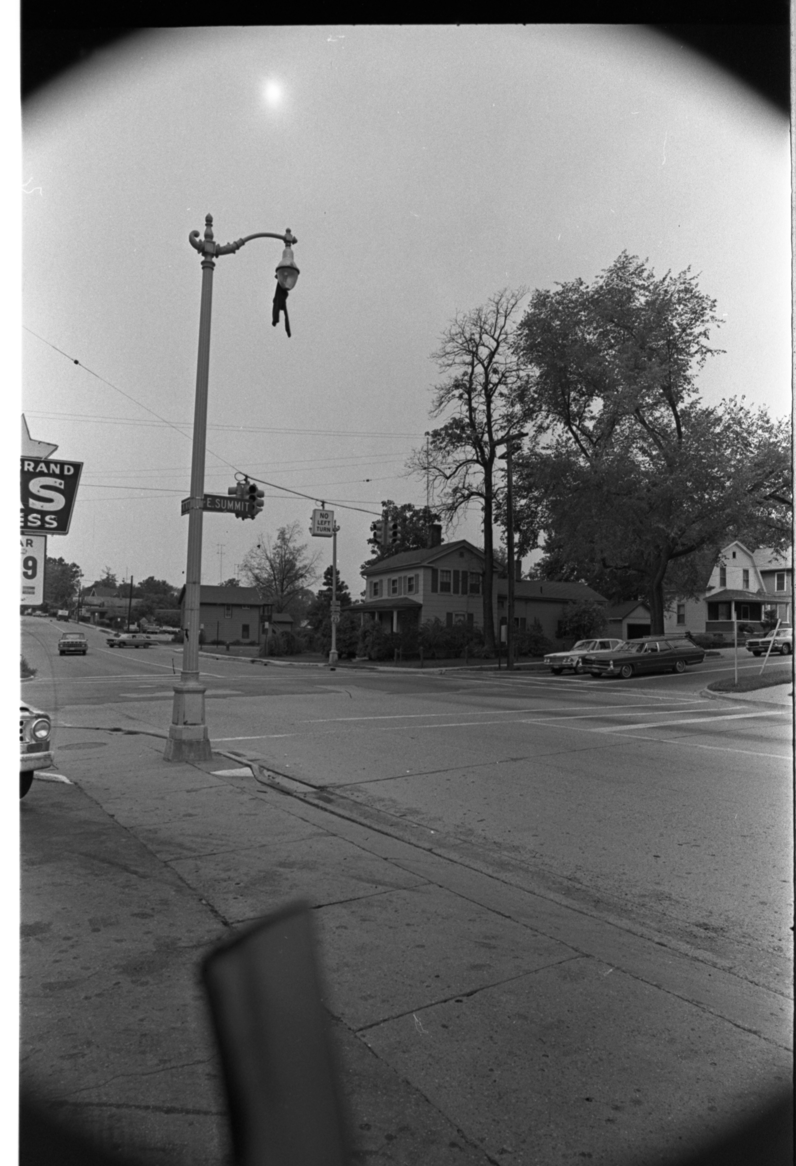 Pants Mysteriously Strung From Light Post, October 1970 image