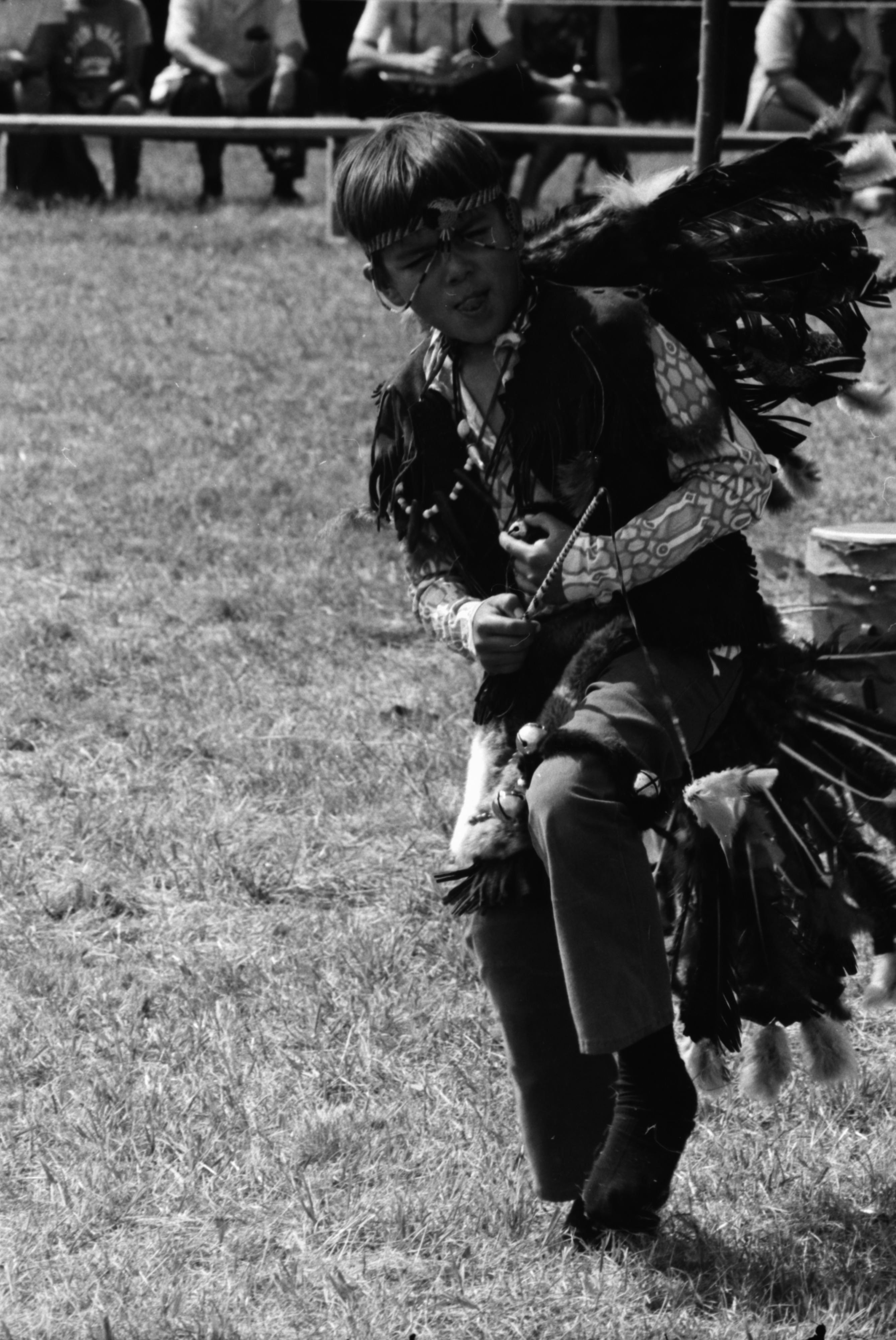 Scott Bird at the annual Powwow sponsored by American Indians Unlimited (AIU), at Knights of Columbus Park, August 1972 image