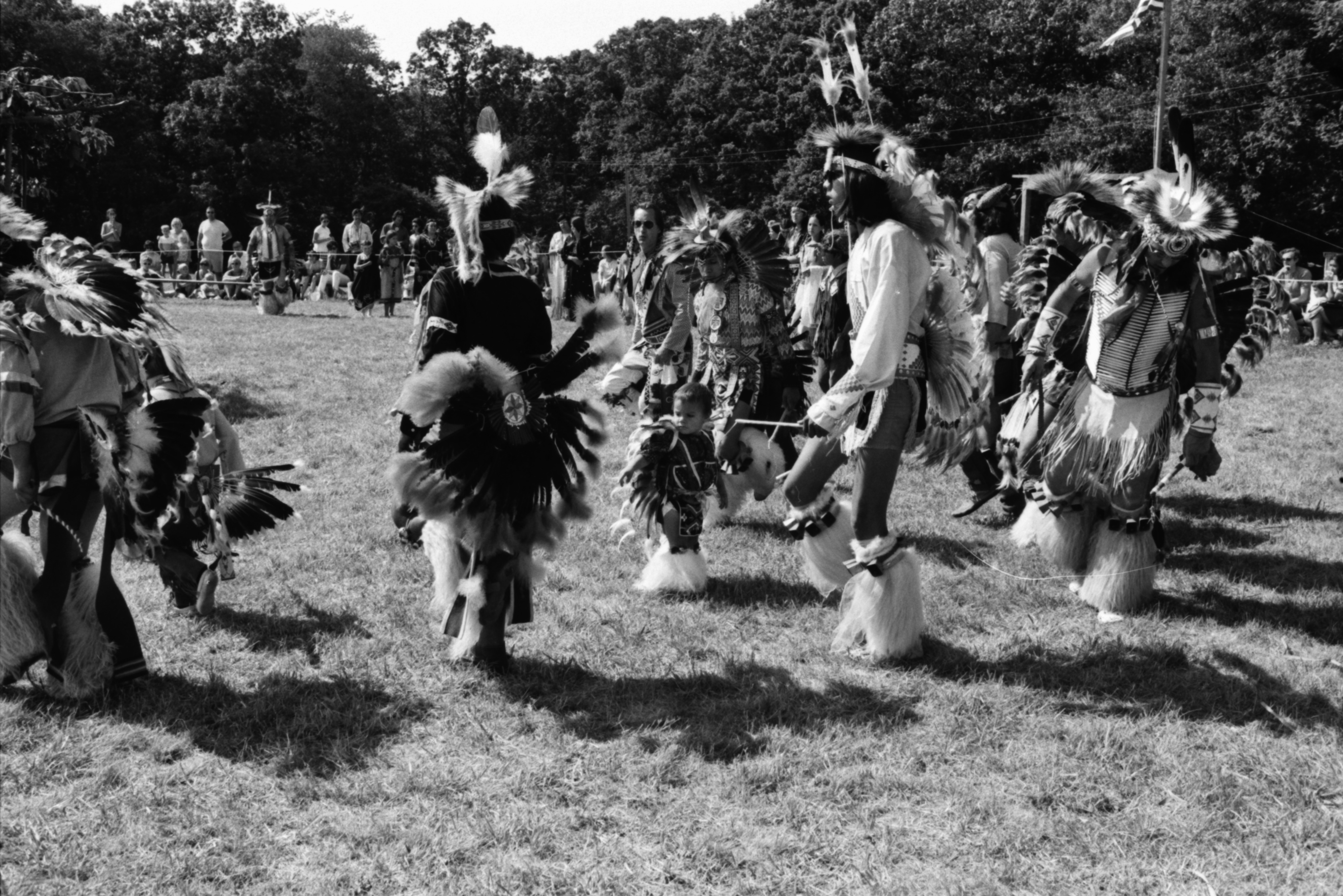 Annual Powwow sponsored by American Indians Unlimited (AIU), at Knights of Columbus Park, August 1972 image