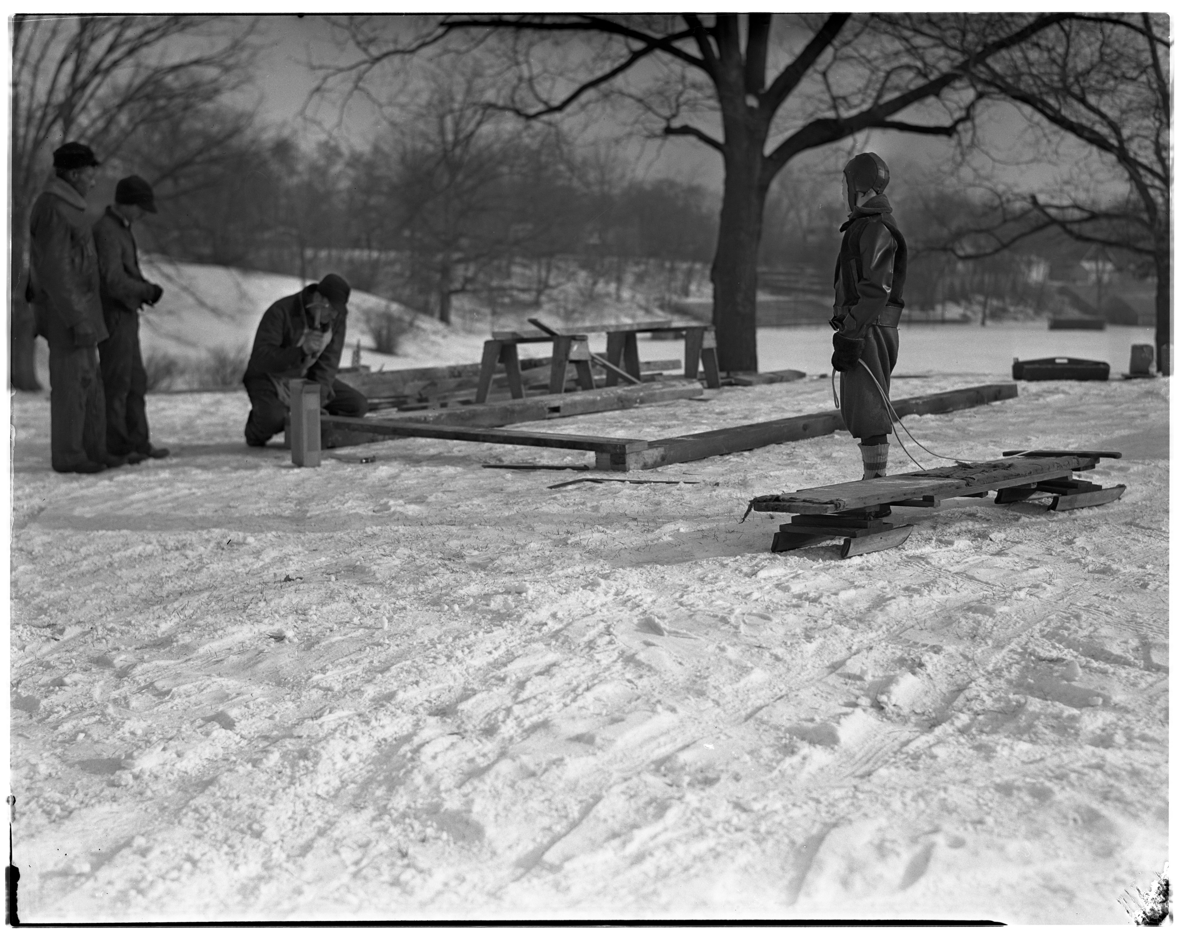 Sledding in Burns Park image