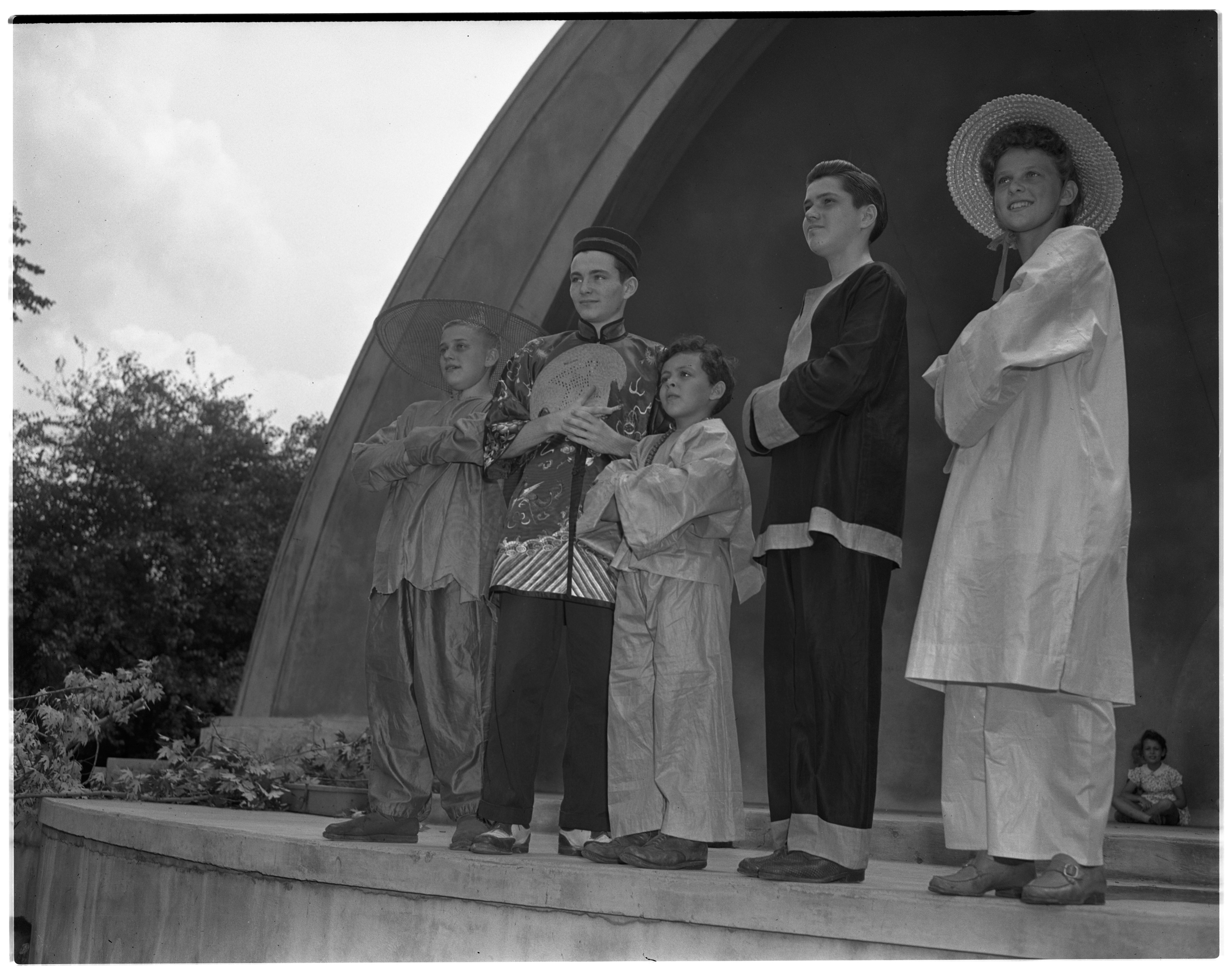 Performers at the West Park Band Shell, July, 1942 image